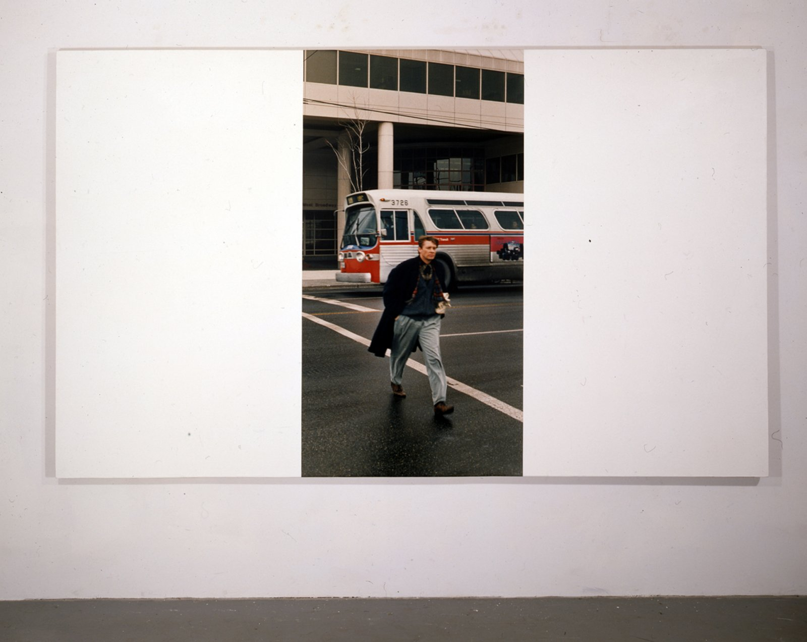 Ian Wallace,My Heroes in the Street IV (Keith), 1987,photolaminate and acrylic on linen,72 x 120 in. (183 x 305 cm)