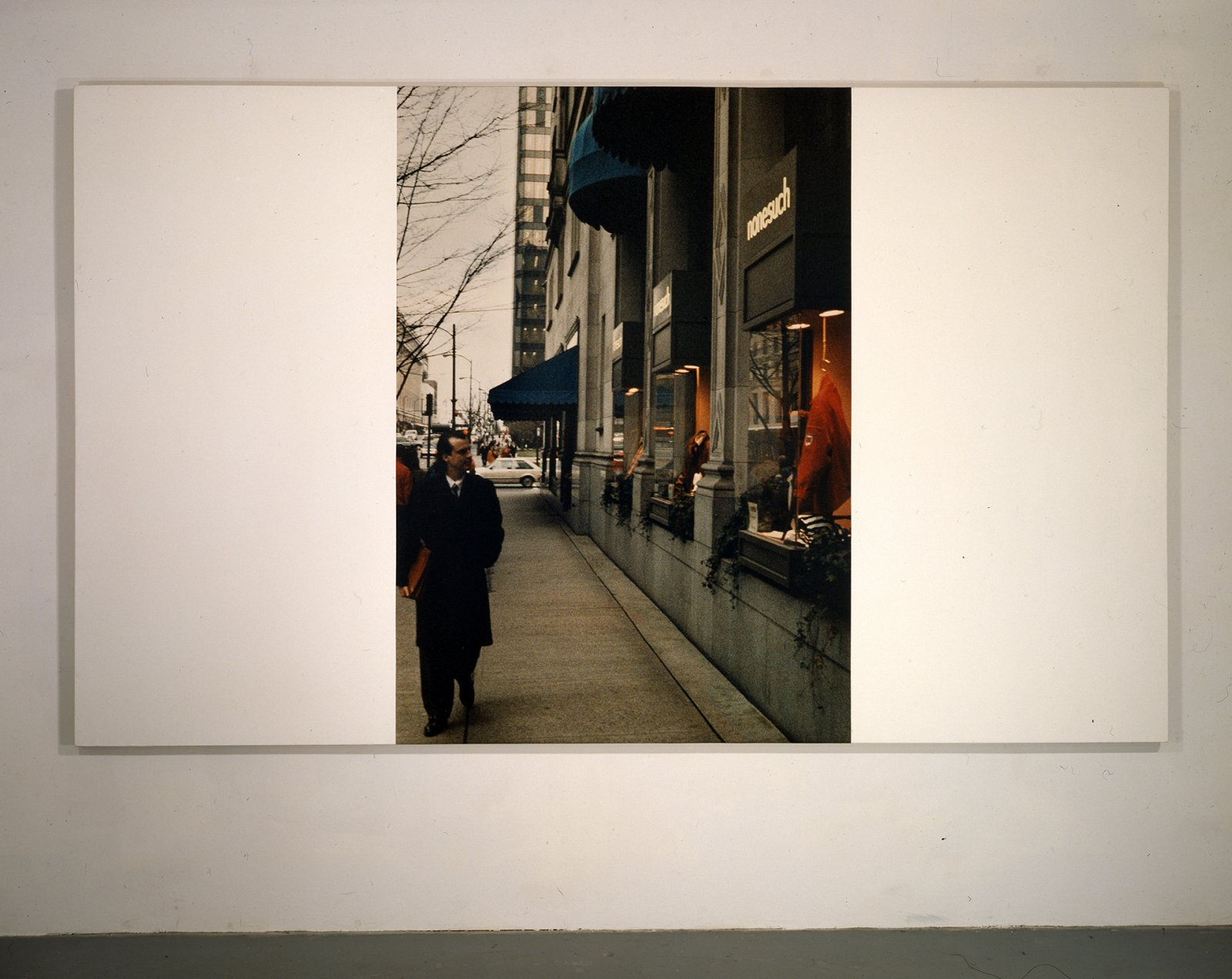 Ian Wallace,My Heroes in the Street VI (Doug), 1987,photolaminate and acrylic on linen,72 x 120 in. (183 x 305 cm)
