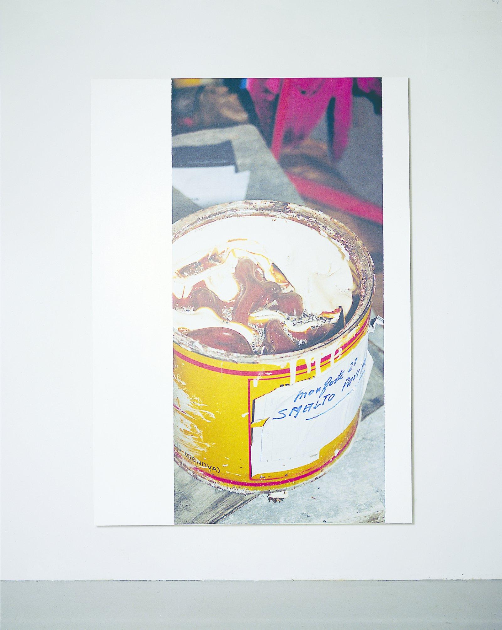 Ian Wallace,The Fontana Series II, 1988, photolaminate and acrylic on canvas, 96 x 60 in. (243 x 152 cm)