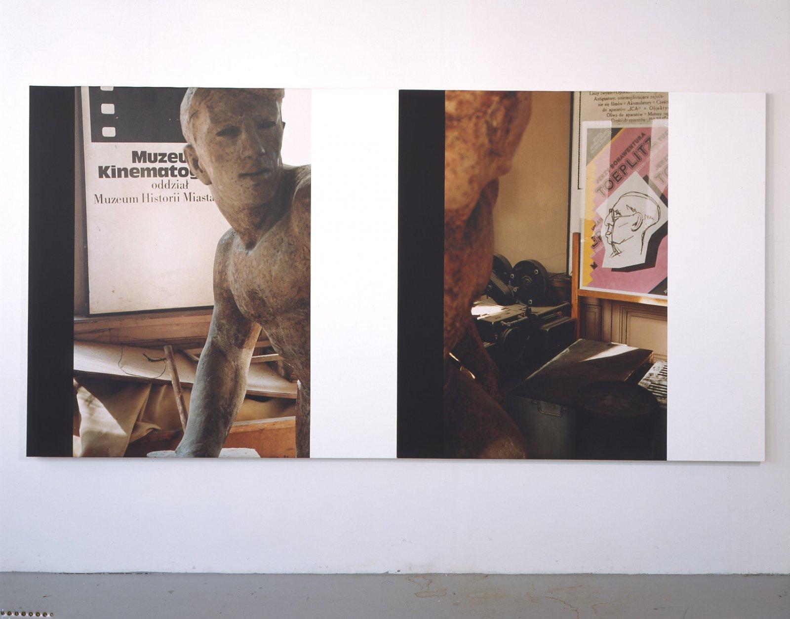 Ian Wallace,The Cinema Museum, Lodz, 1991,60 x 120 in. (152 x 304 cm)