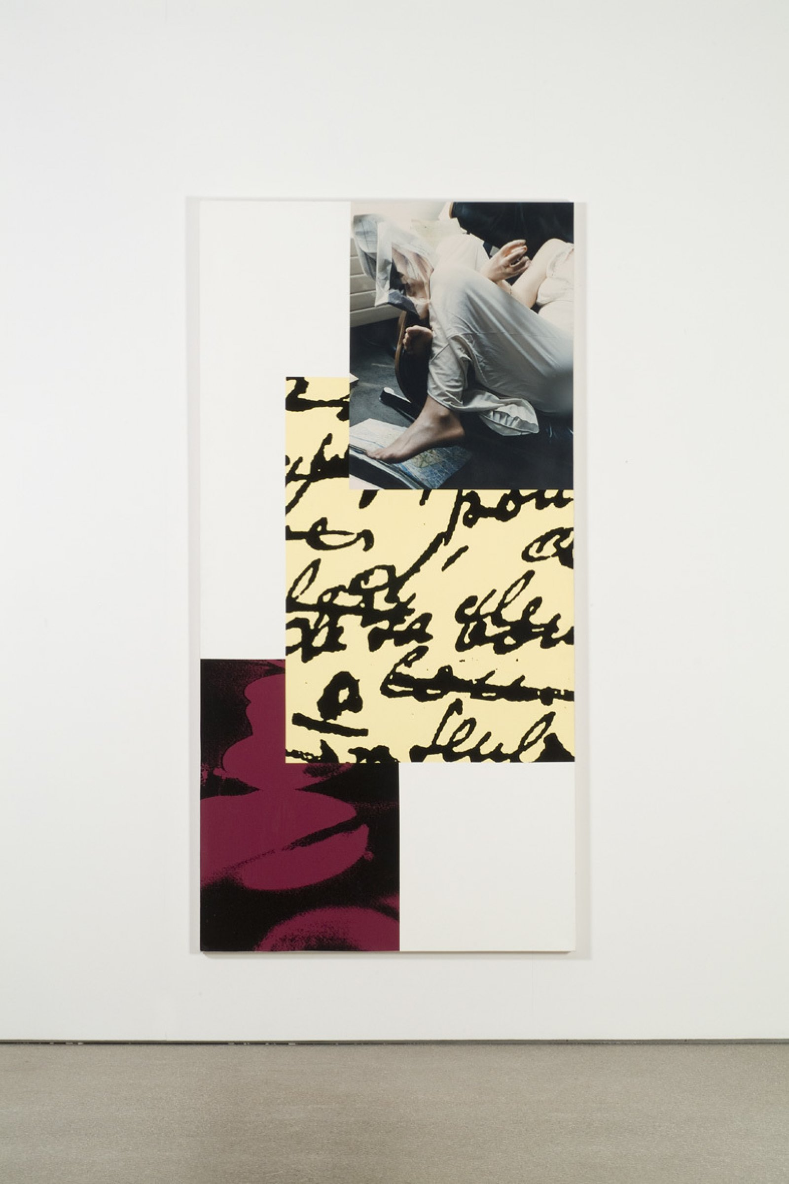 IanWallace,Tropisme IX, 1995,photolaminate with ink serigraph and acrylic on canvas,96 x 48 in.(244 x 122cm)