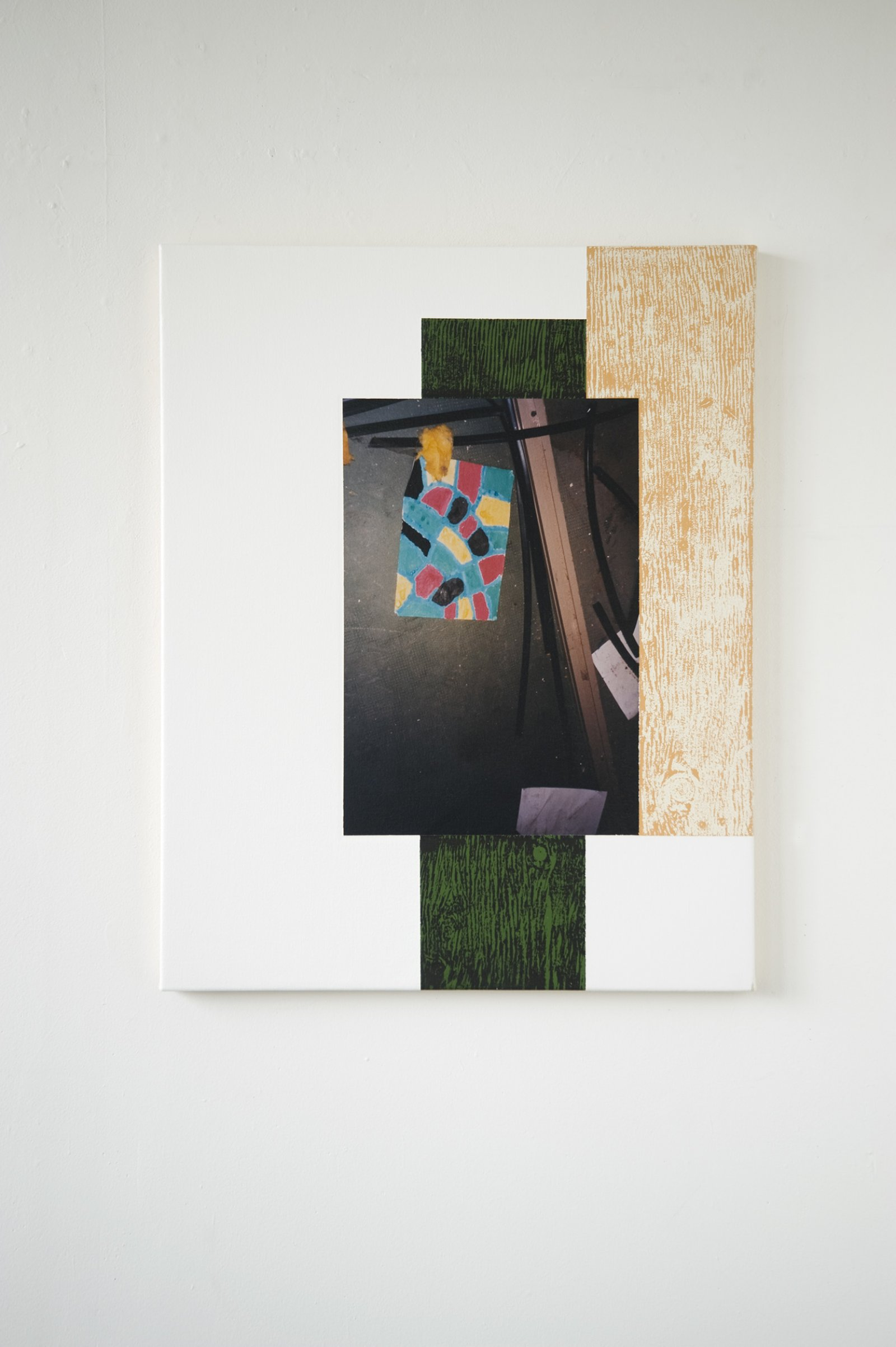 Ian Wallace,Abstract Art III, 1999, photolaminate with acrylic on canvas, 30 x 24 in. (76 x 61 cm)
