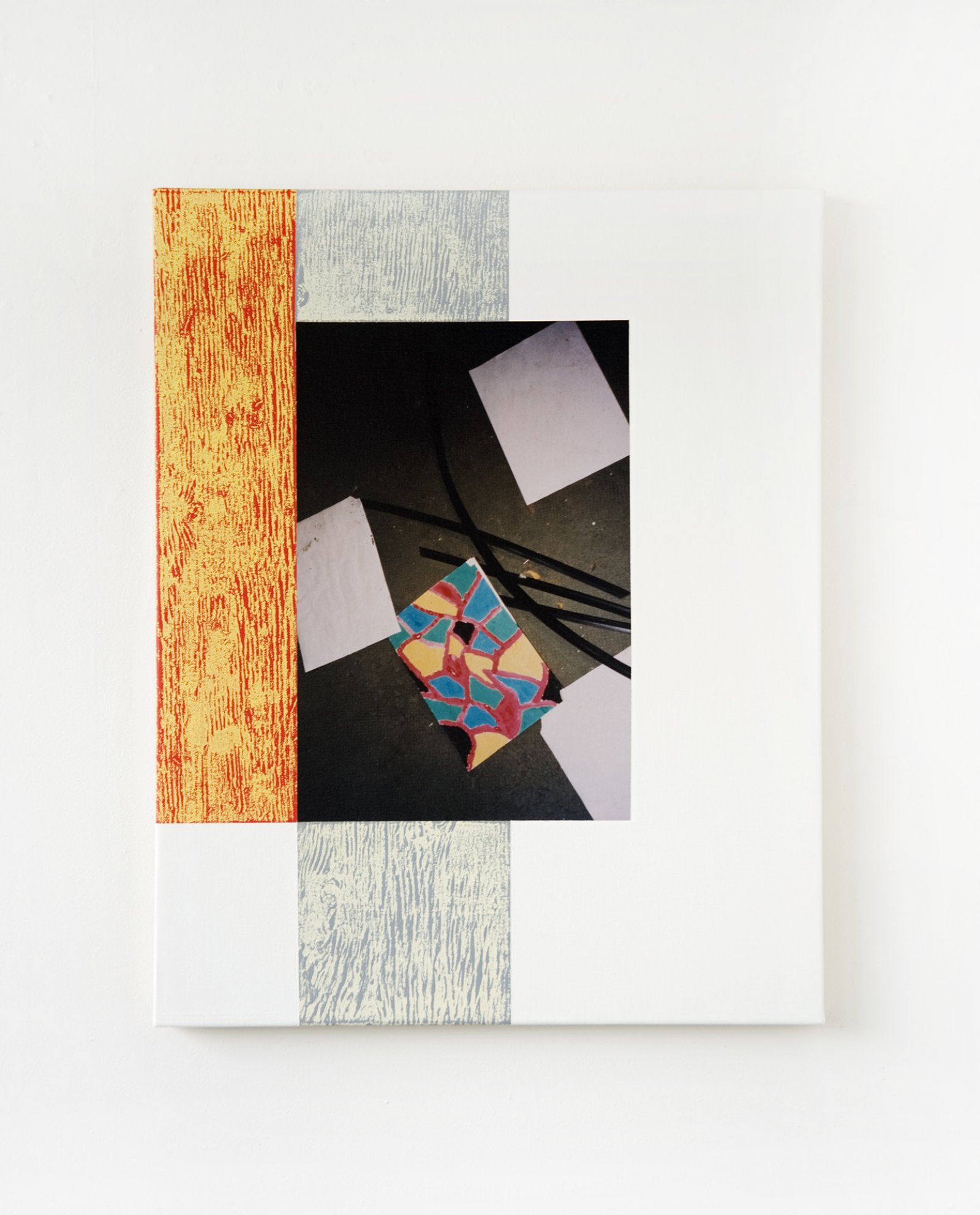 Ian Wallace,Abstract Art II, 1999, photolaminate with acrylic on canvas, 30 x 24 in. (76 x 61 cm)