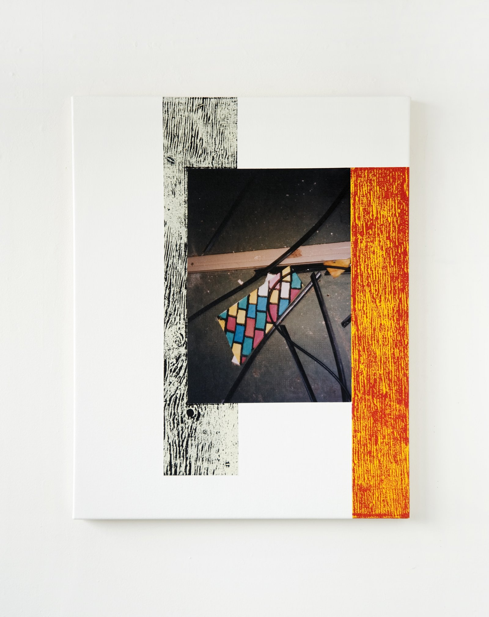 Ian Wallace,Abstract Art IV, 1999, photolaminate with acrylic on canvas, 30 x 24 in. (76 x 61 cm)