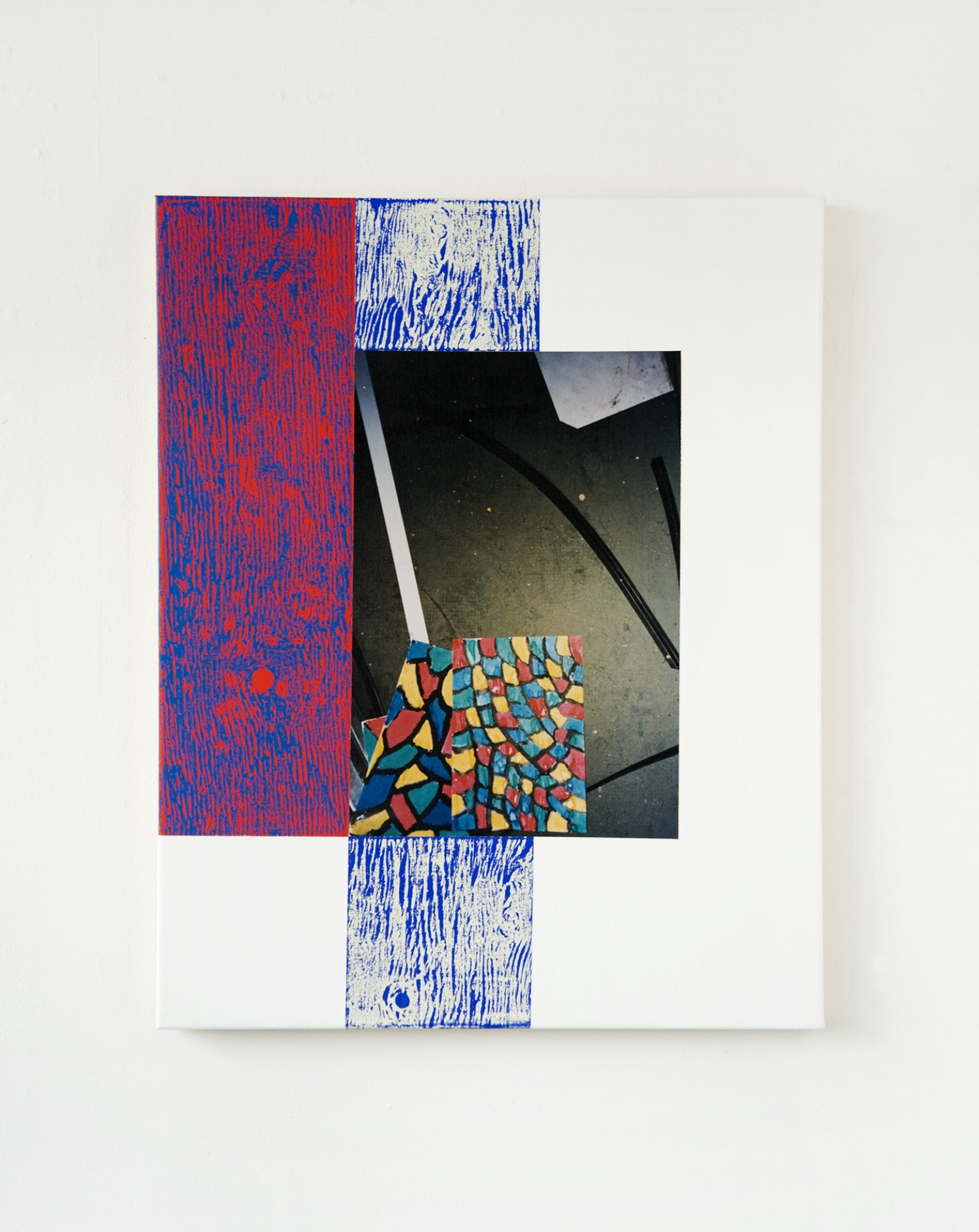 Ian Wallace,Abstract Art V, 1999, photolaminate with acrylic on canvas, 30 x 24 in. (76 x 61 cm)