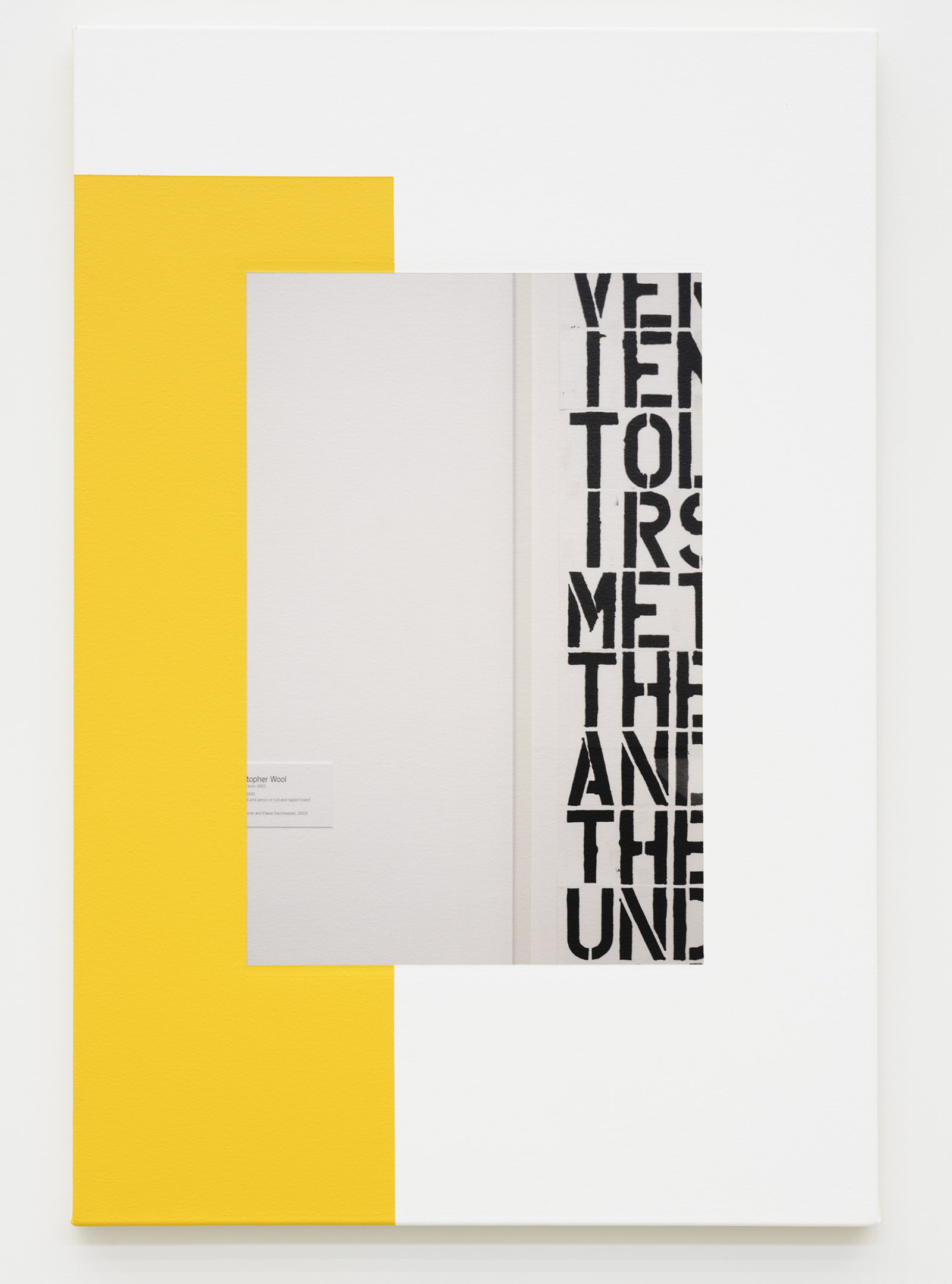 Ian Wallace, Abstract Composition (with Christopher Wool), 2011, photolaminate with acrylic on canvas, 36 x 24 in. (91 x 61 cm) by Ian Wallace