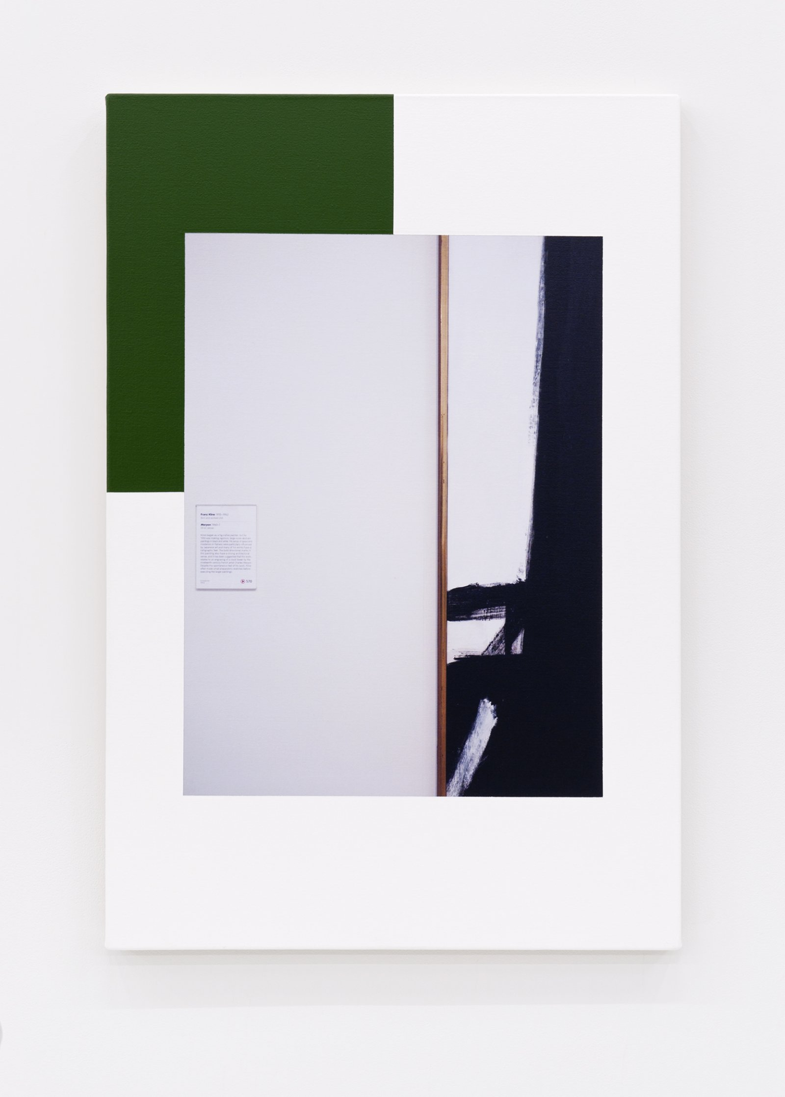 Ian Wallace,Abstract Composition(with Franz Kline),2012, photolaminate with acrylic on canvas, 36 x 24in. (91 x 61 cm)