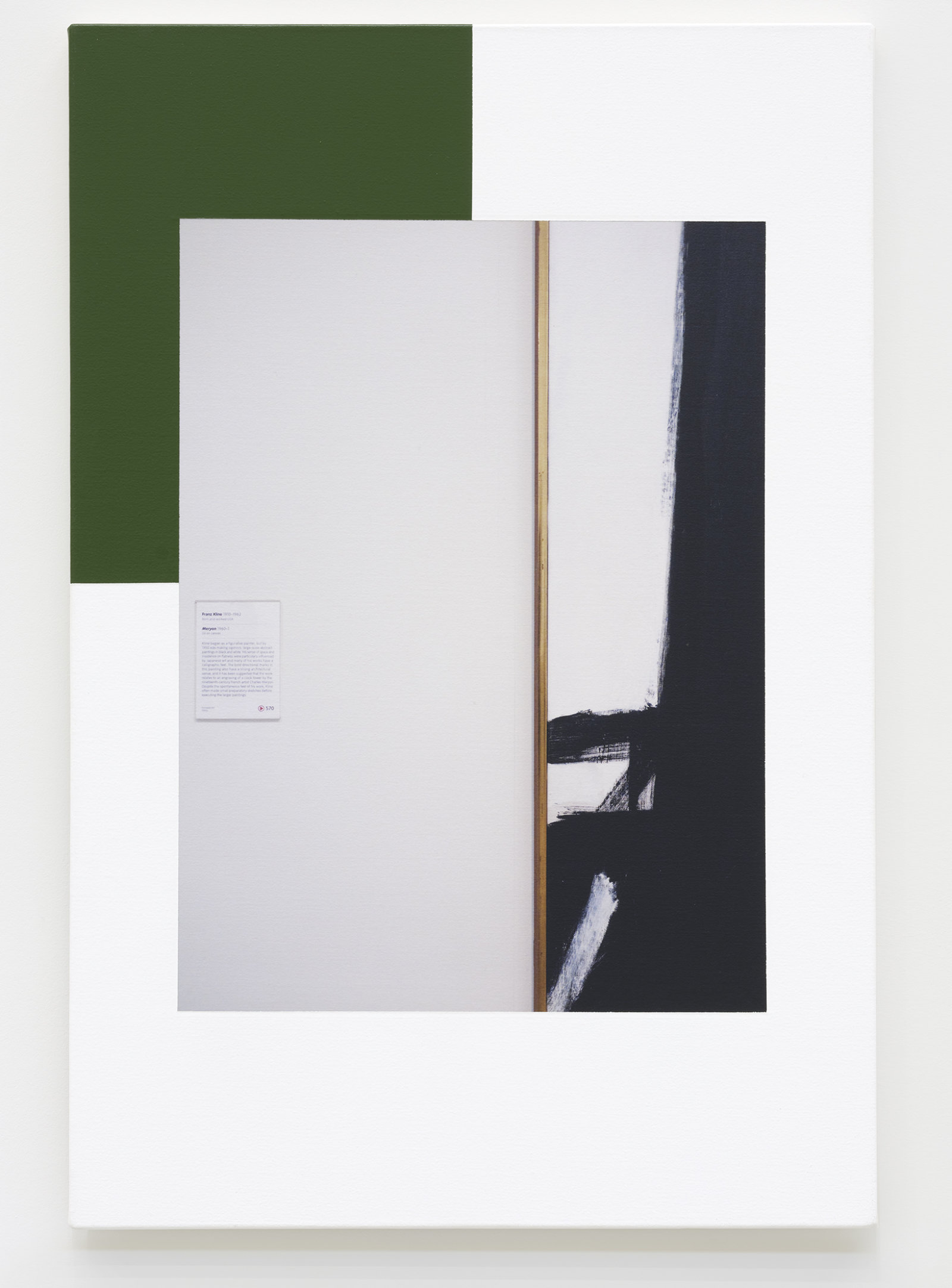 Ian Wallace, Abstract Composition (with Franz Kline), 2012, photolaminate with acrylic on canvas, 36 x 24 in. (91 x 61 cm) by Ian Wallace