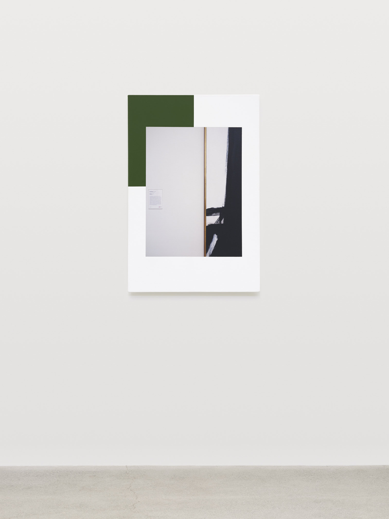 Ian Wallace, Abstract Composition (with Franz Kline), 2012, photolaminate with acrylic on canvas, 36 x 24 in. (91 x 61 cm)