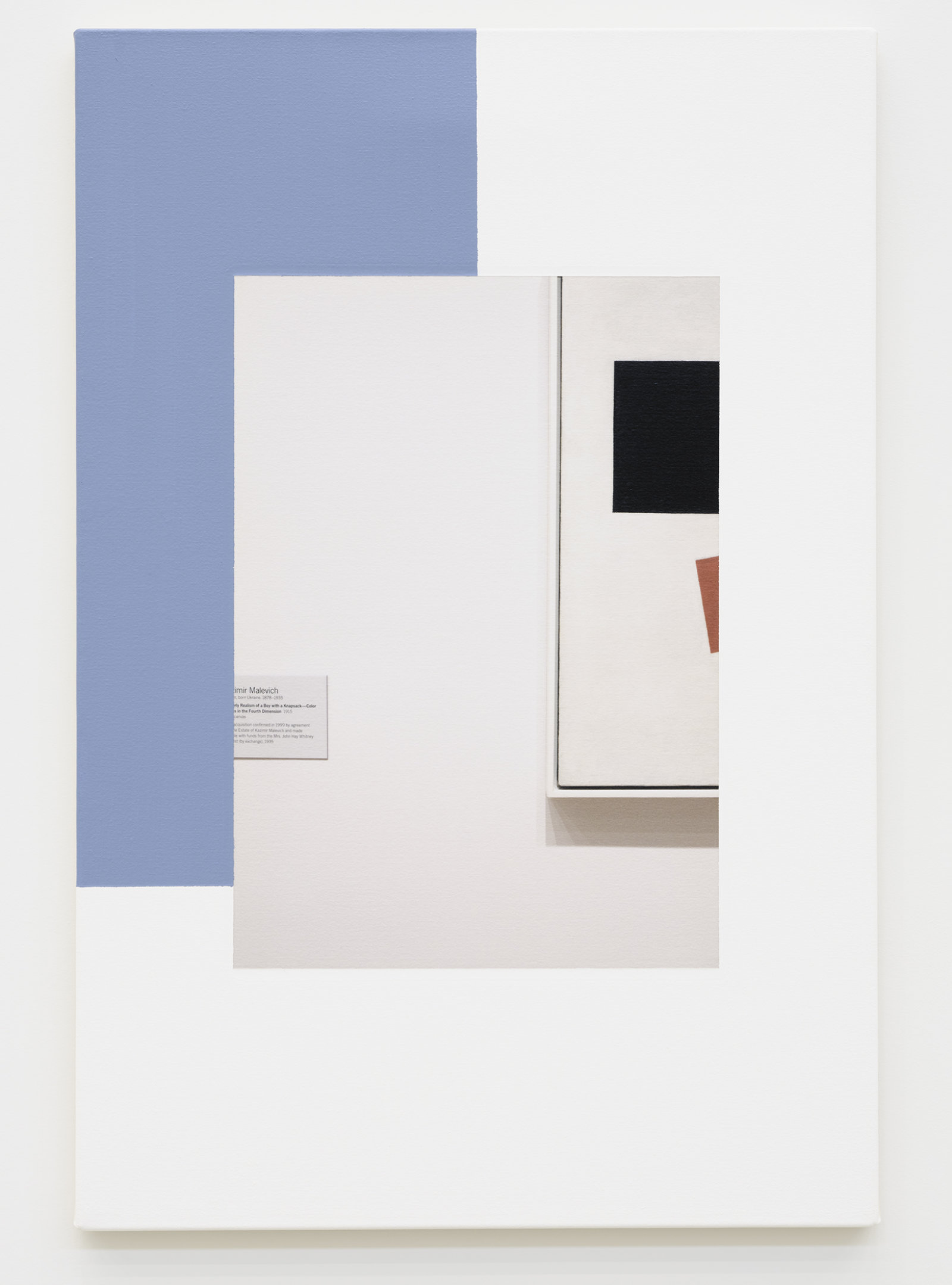 Ian Wallace, Abstract Composition (with Malevich), 2011, photolaminate with acrylic on canvas, 36 x 24 in. (91 x 61 cm) by Ian Wallace