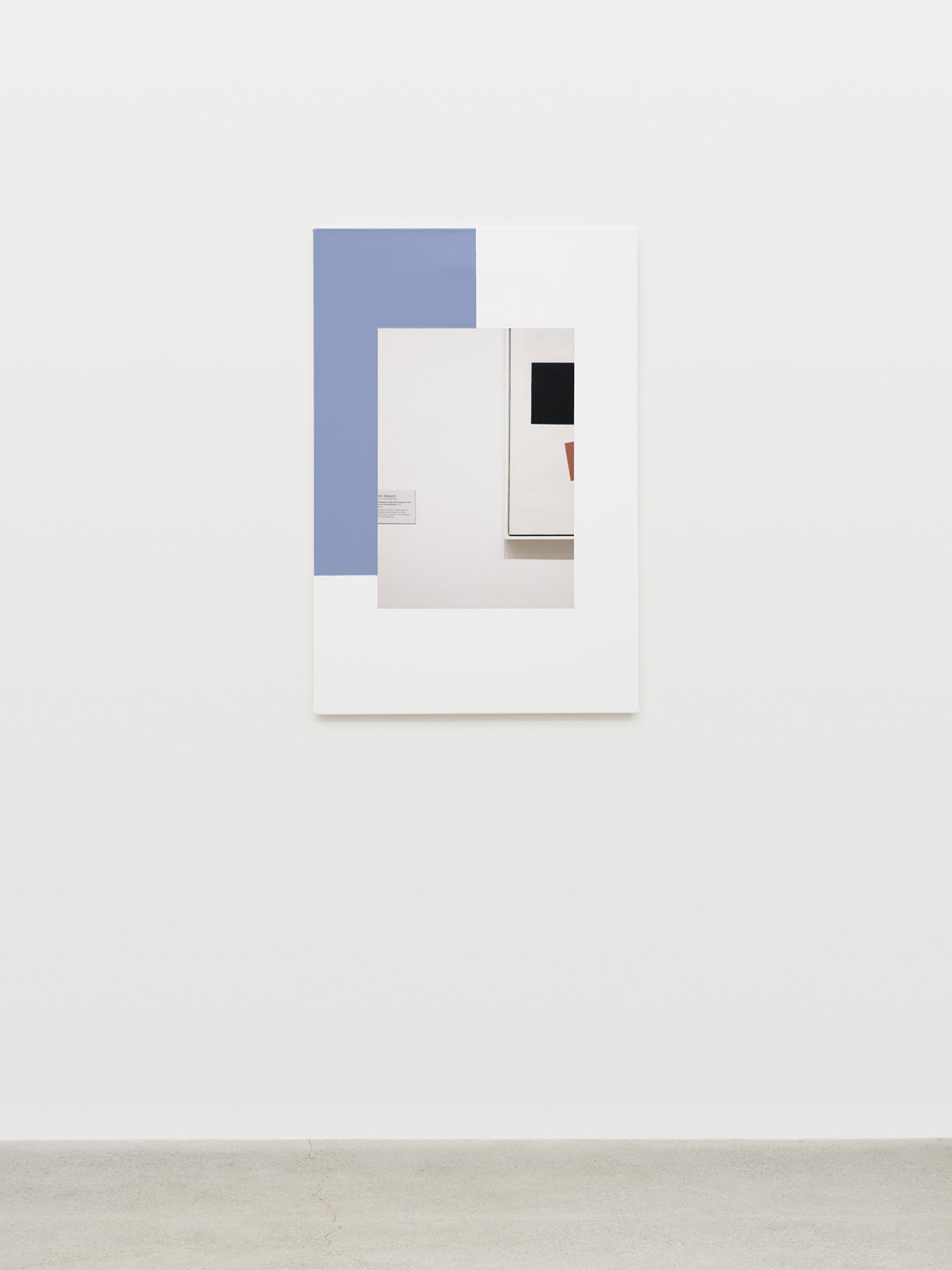 Ian Wallace, Abstract Composition (with Malevich), 2011, photolaminate with acrylic on canvas, 36 x 24 in. (91 x 61 cm)
