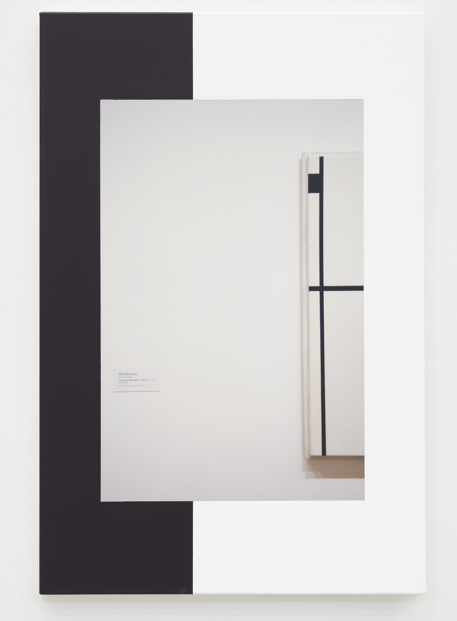 Ian Wallace, Abstract Composition (with Mondrian) IV, 2011, photolaminate with acrylic on canvas, 36 x 24 in. (91 x 61 cm) by Ian Wallace