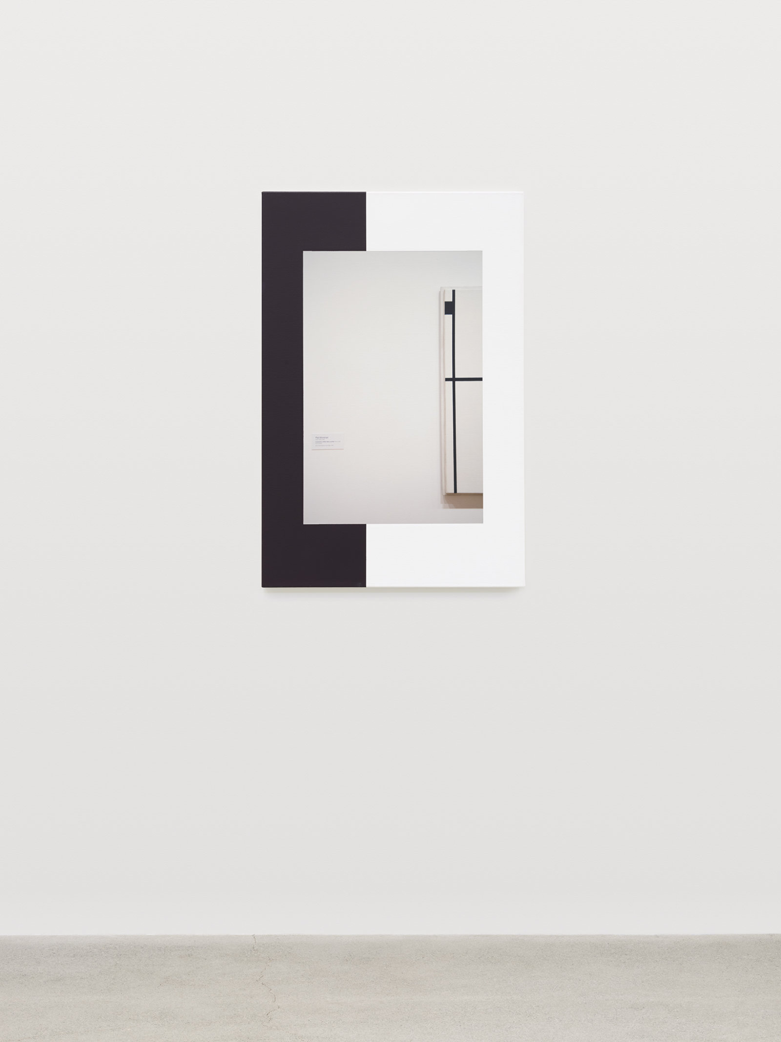 Ian Wallace, Abstract Composition (with Mondrian) IV, 2011, photolaminate with acrylic on canvas, 36 x 24 in. (91 x 61 cm)