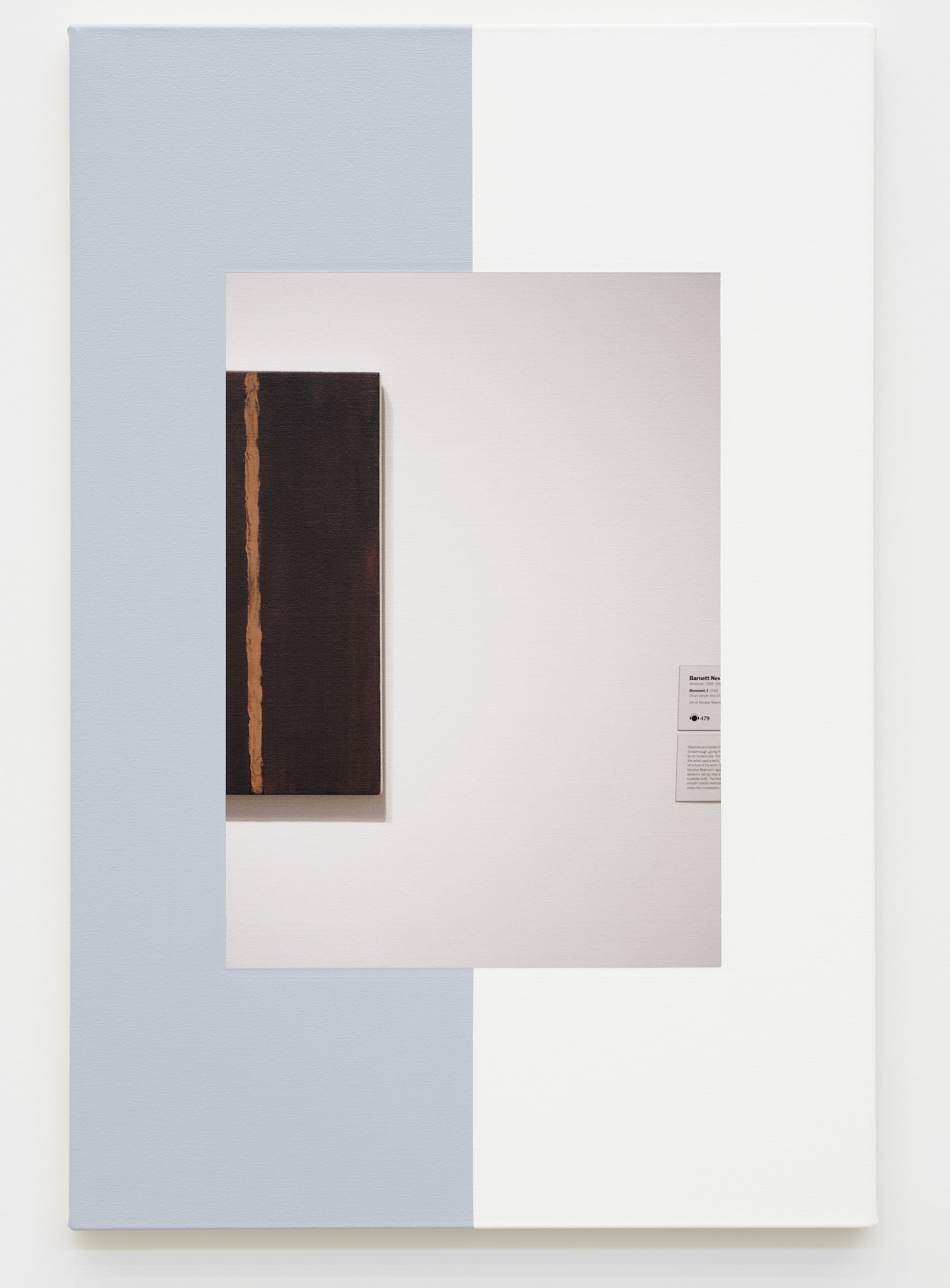 Ian Wallace, Abstract Composition (with Onement), 2011, photolaminate with acrylic on canvas, 36 x 24 in. (91 x 61 cm) by Ian Wallace