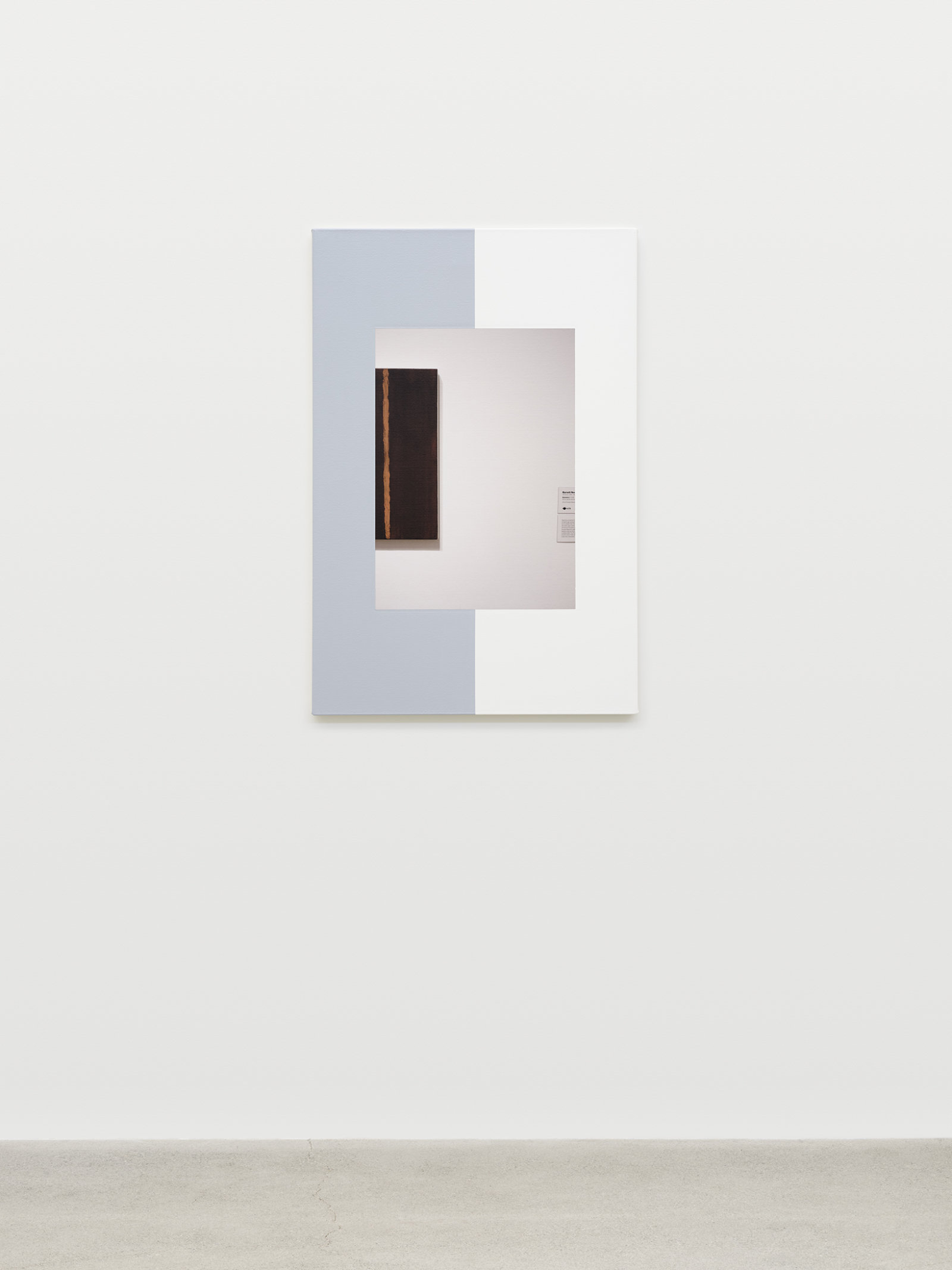 Ian Wallace, Abstract Composition (with Onement), 2011, photolaminate with acrylic on canvas, 36 x 24 in. (91 x 61 cm)