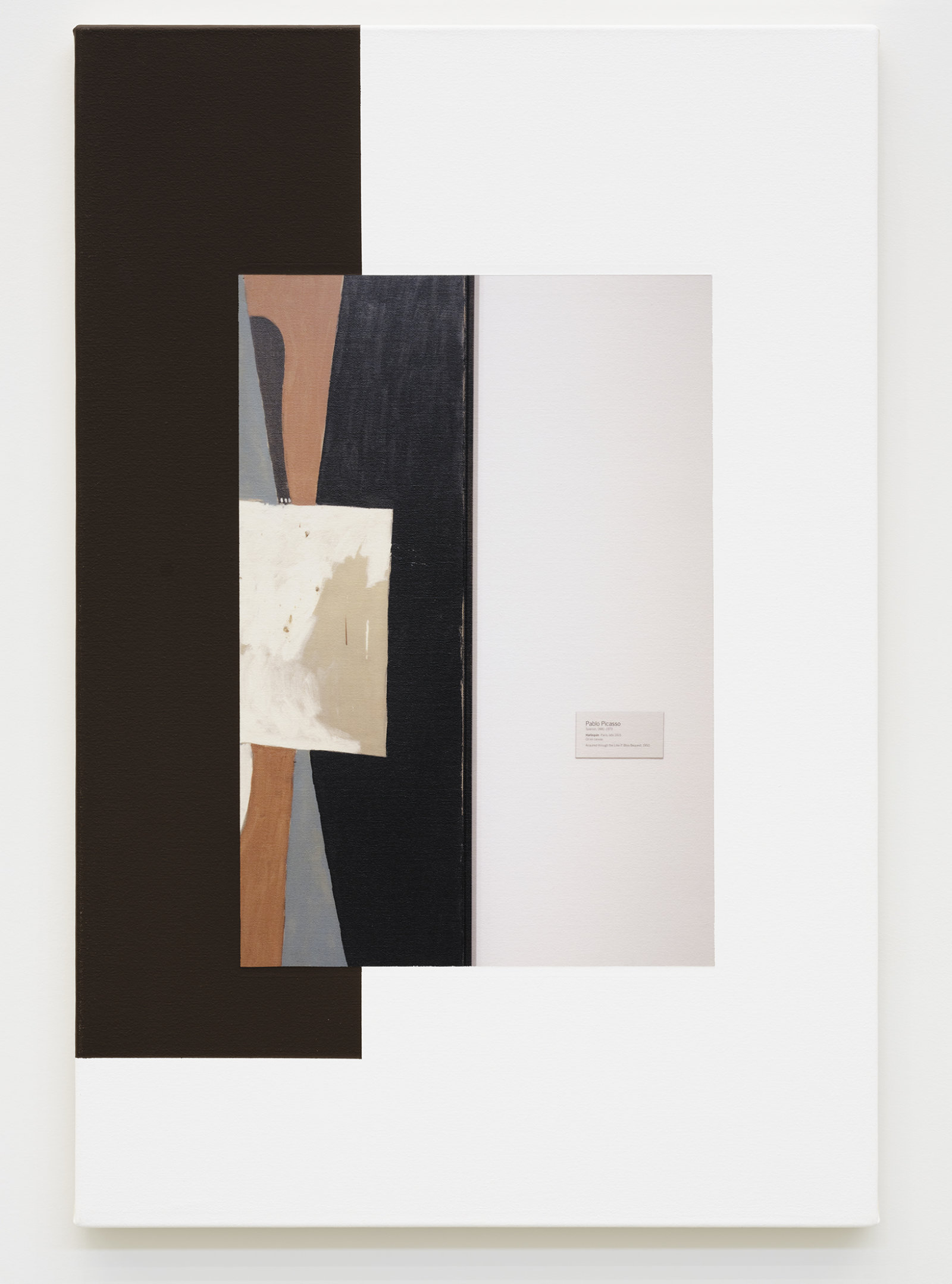 Ian Wallace, Abstract Composition (with Picasso), 2011, photolaminate with acrylic on canvas, 36 x 24 in. (91 x 61 cm) by Ian Wallace