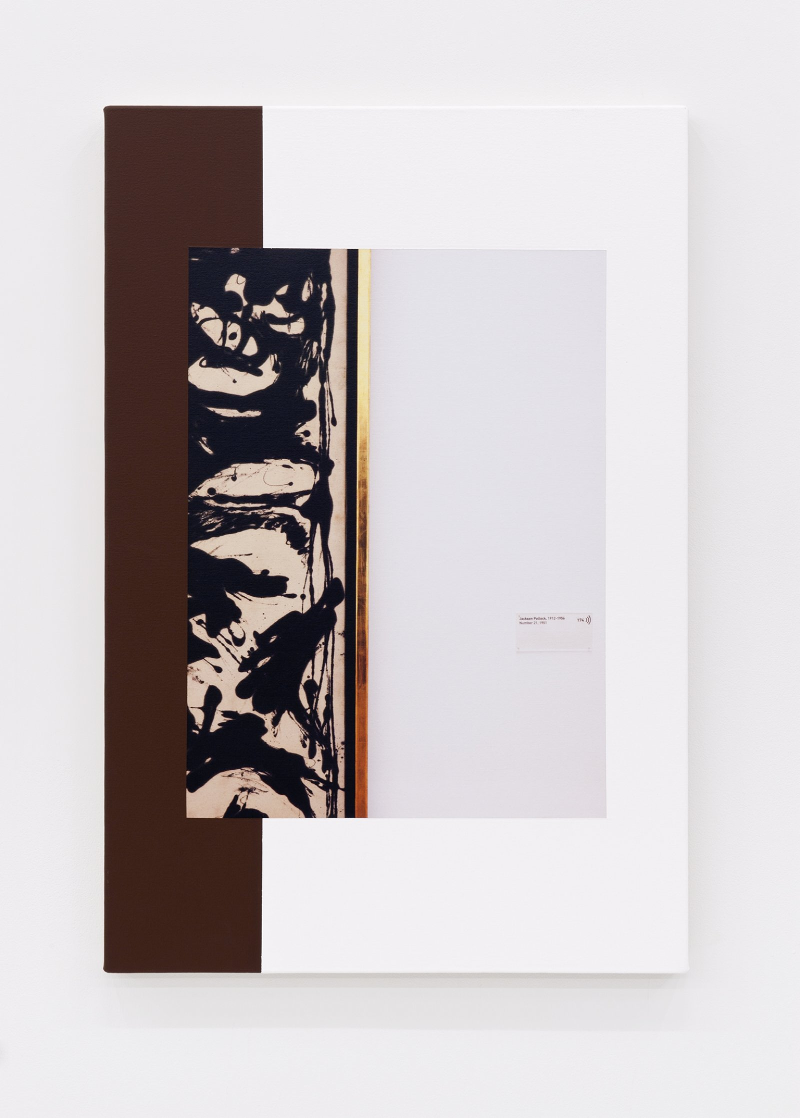 Ian Wallace,Abstract Composition(with Pollock Number 21),2012, photolaminate with acrylic on canvas, 36 x 24in. (91 x 61 cm)