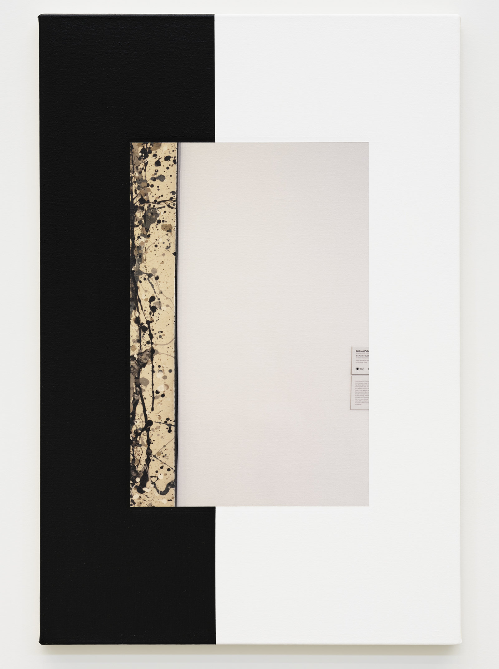 Ian Wallace, Abstract Composition (with Pollock), 2011, photolaminate with acrylic on canvas, 36 x 24 in. (91 x 61 cm) by Ian Wallace