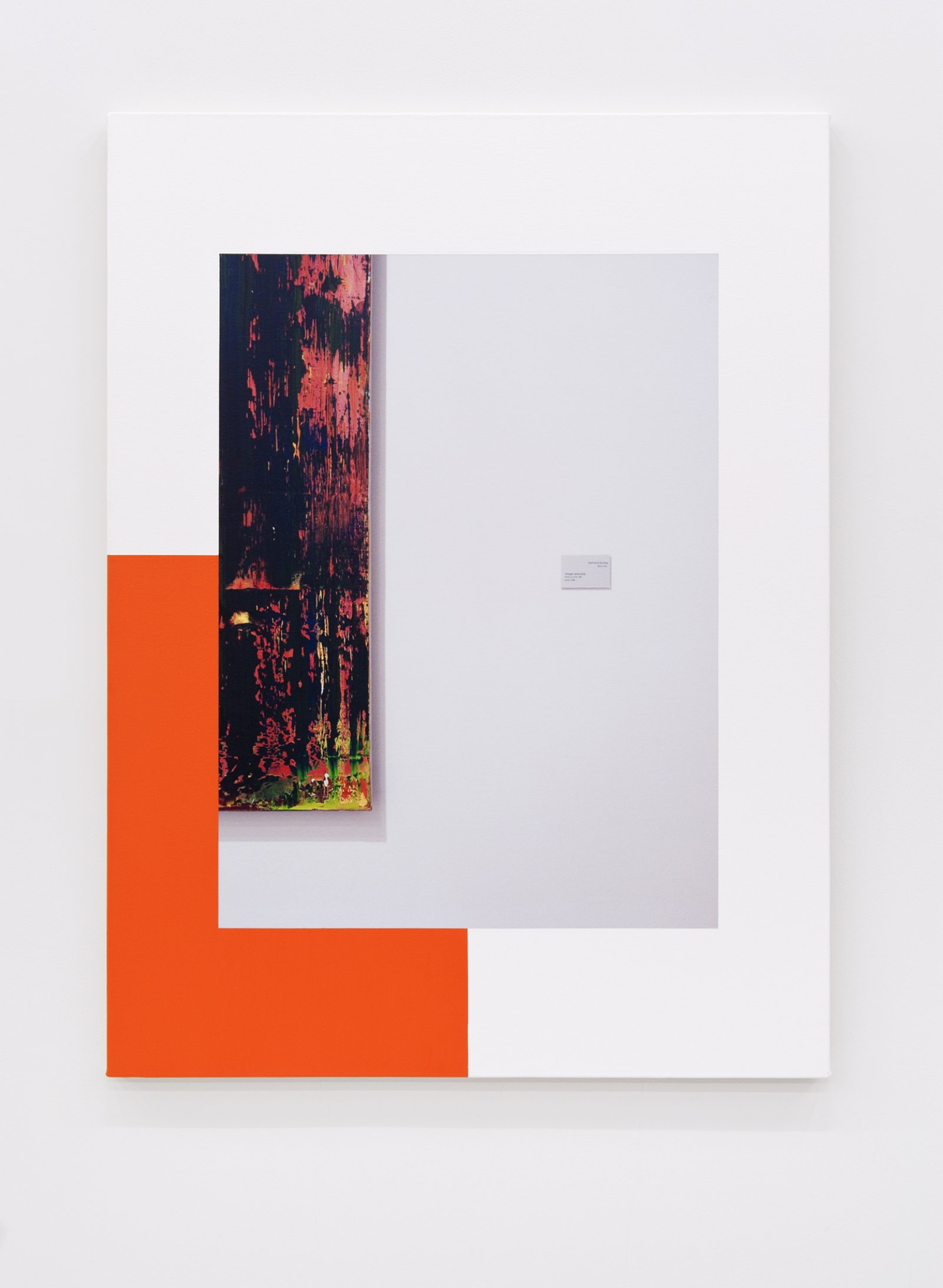 Ian Wallace,Abstract Composition (with Richter),2012, photolaminate with acrylic on canvas, 48 x 36 in. (122 x 91 cm)