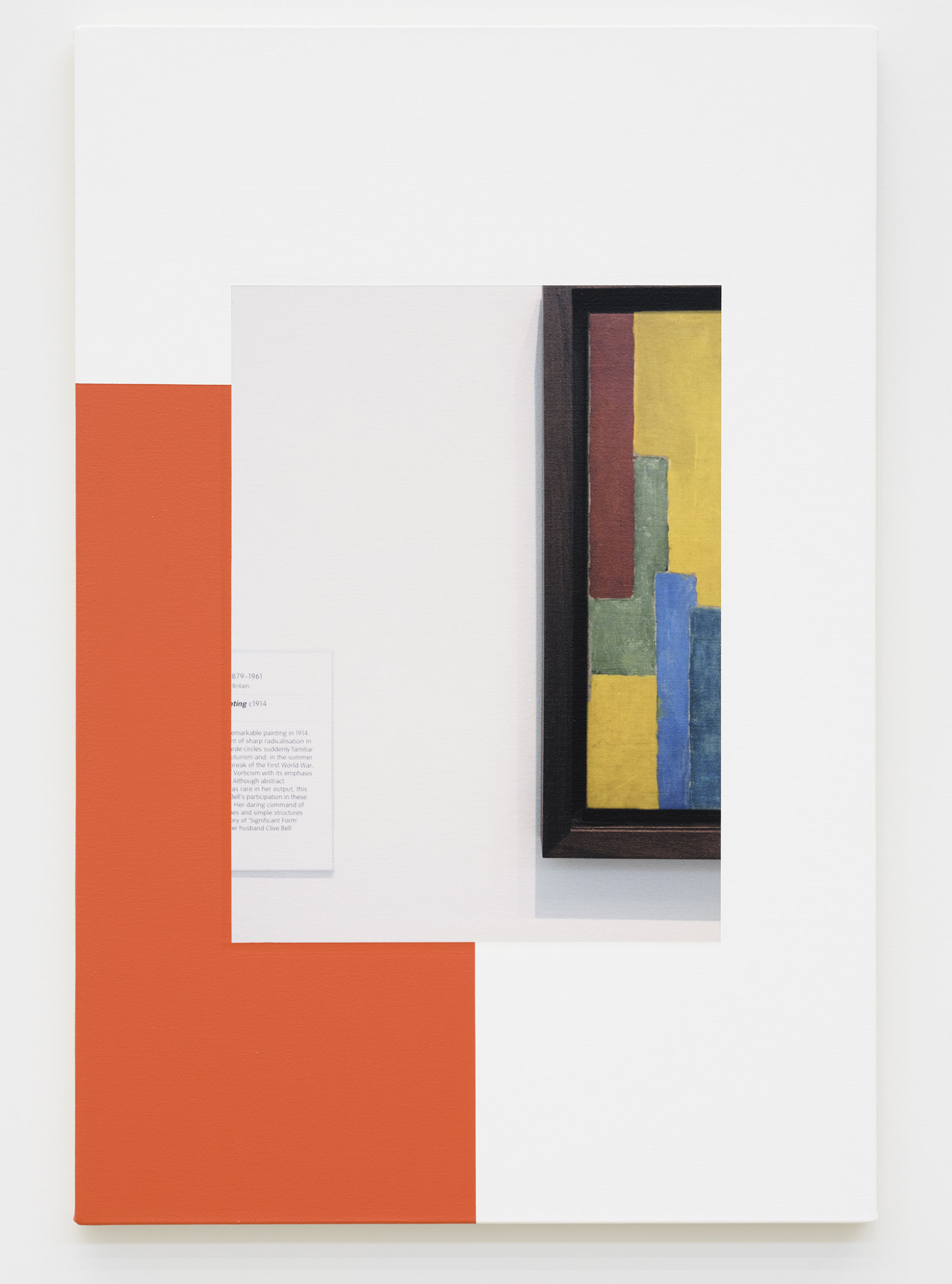 Ian Wallace, Abstract Composition (with Vanessa Bell), 2011, photolaminate with acrylic on canvas, 36 x 24 in. (91 x 61 cm) by Ian Wallace