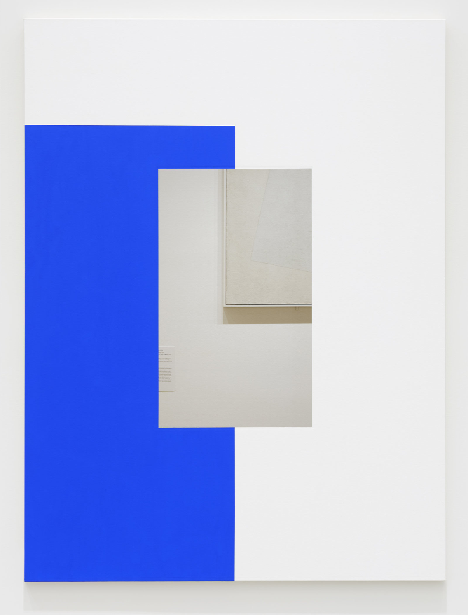 Ian Wallace, Abstract Painting (Blue on White), 2011, photolaminate and acrylic on canvas, 80 x 60 in. (203 x 152 cm) by Ian Wallace