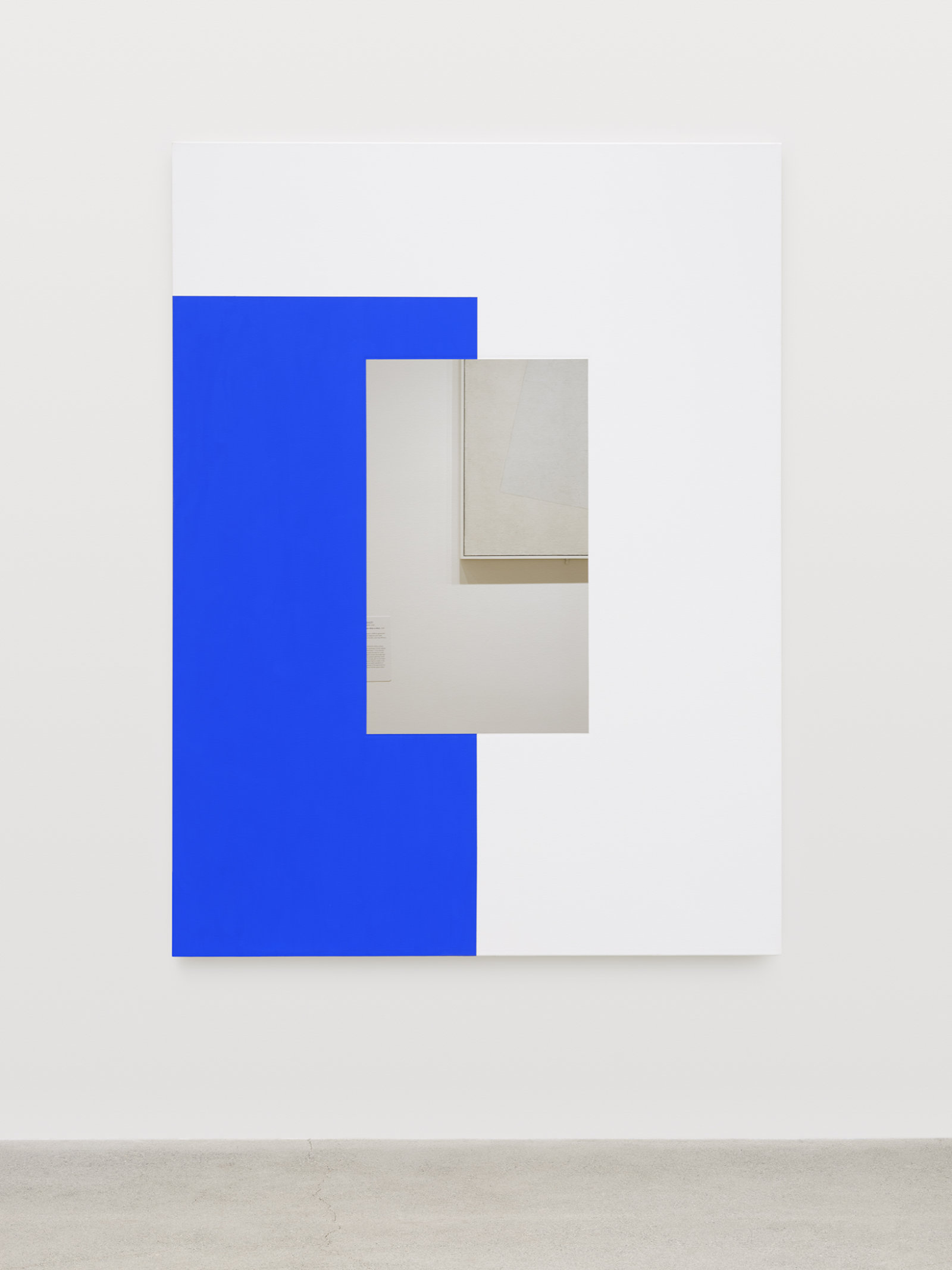 Ian Wallace, Abstract Painting (Blue on White), 2011, photolaminate and acrylic on canvas, 80 x 60 in. (203 x 152 cm)