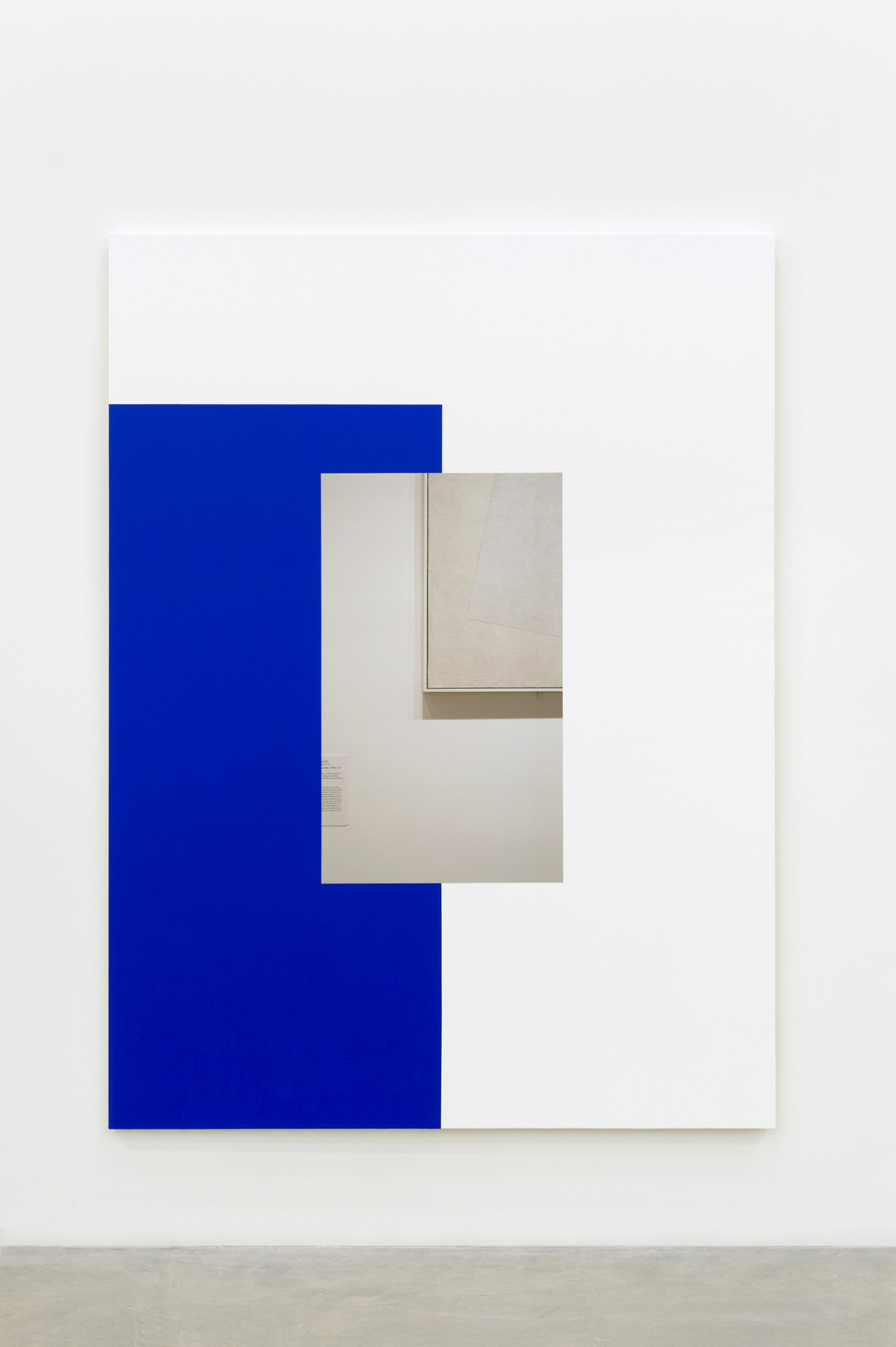 Ian Wallace, Abstract Painting (Blue On White), 2011, photolaminate and acrylic on canvas, 80 x 60 in. (203 x 153 cm) by Ian Wallace