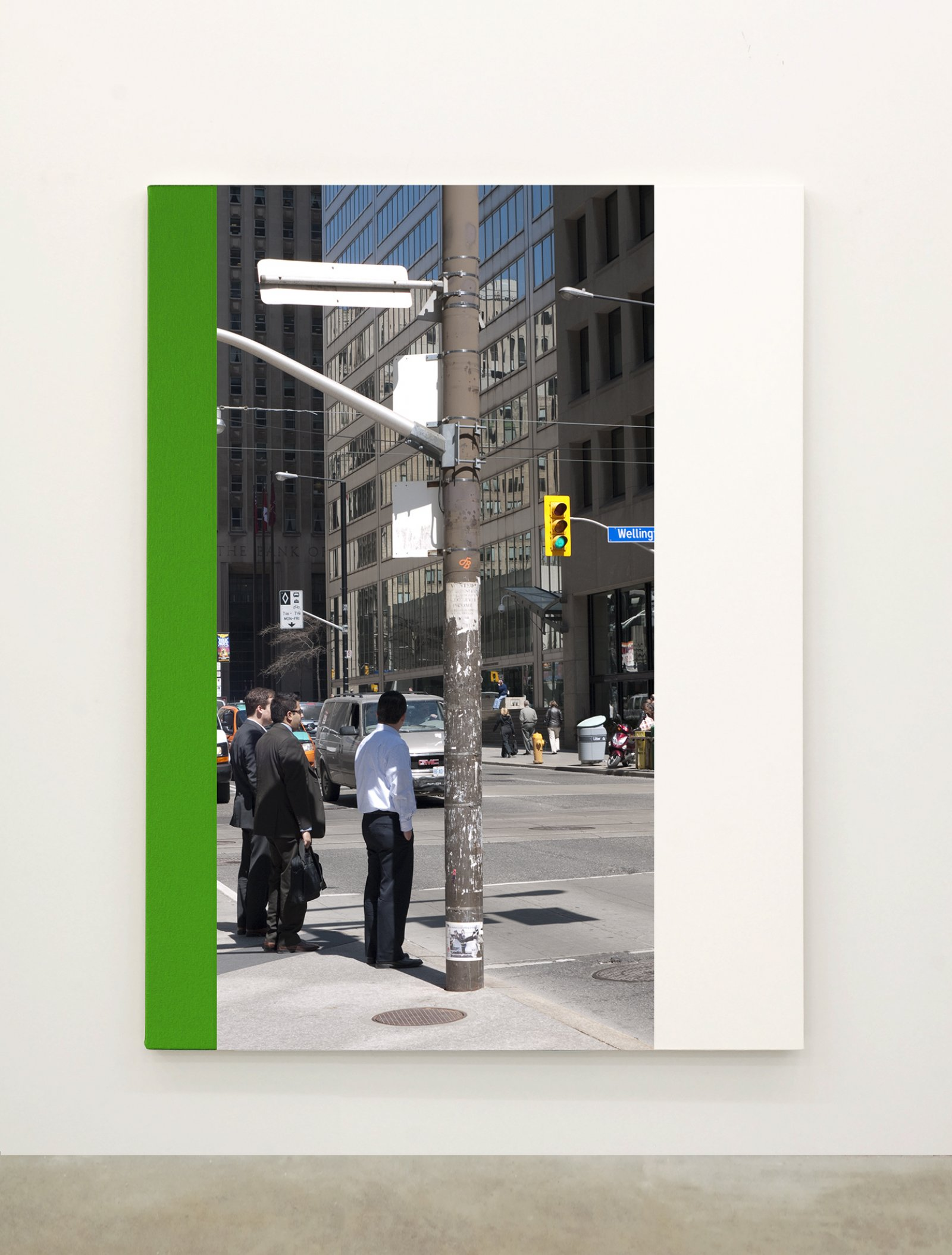 Ian Wallace,Abstract Painting I(The Financial District), 2010,12 photolaminate with acrylic on canvas panels, each 96 x 72 in. (244 x 183 cm)