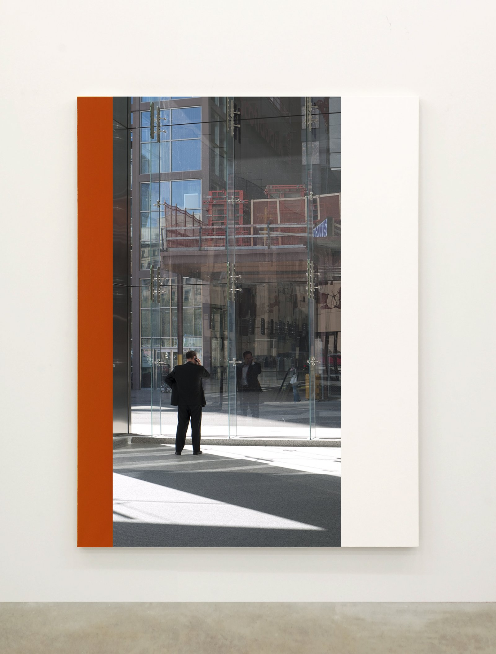 Ian Wallace,Abstract Painting III(The Financial District), 2010,12 photolaminate with acrylic on canvas panels, each 96 x 72 in. (244 x 183 cm)