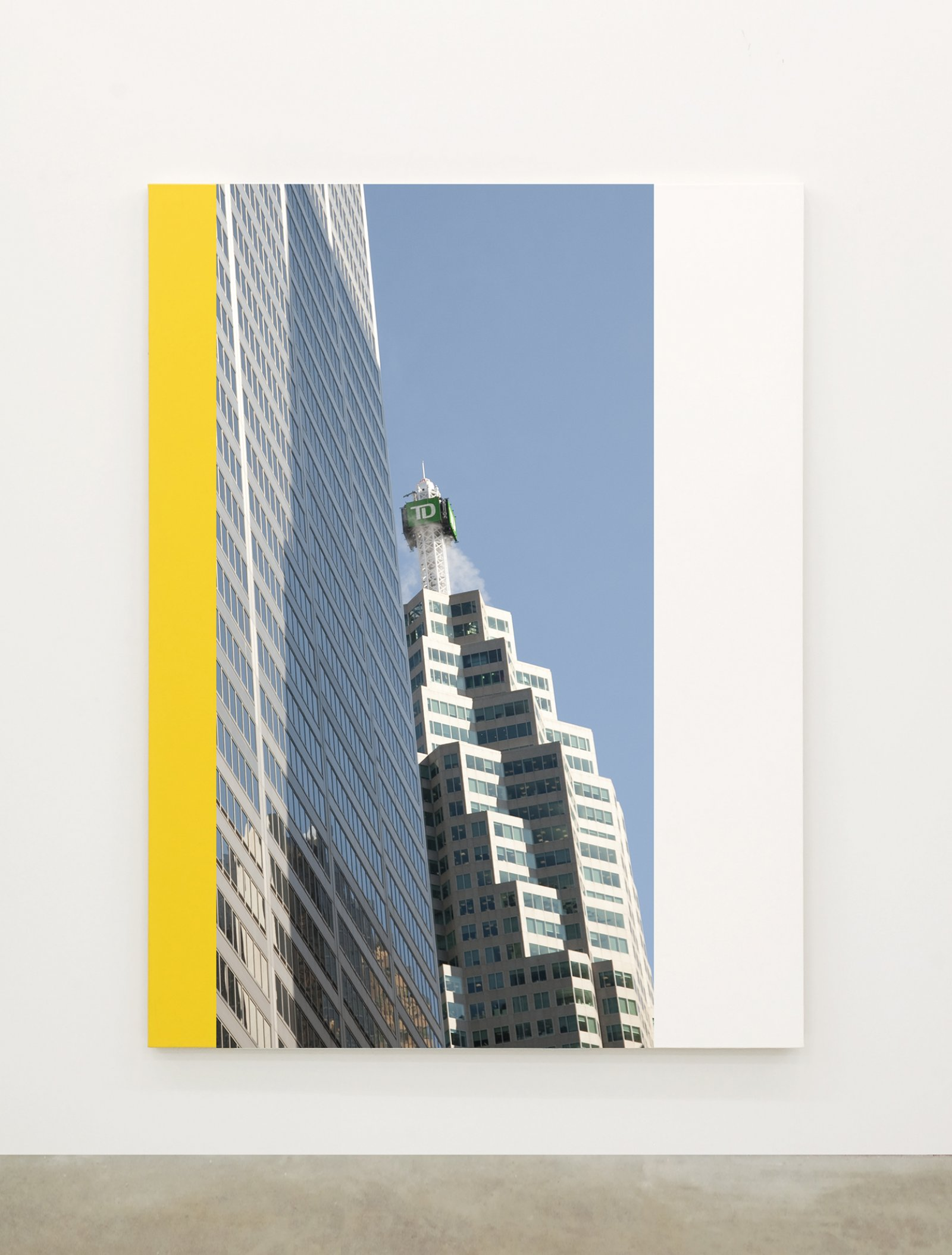 Ian Wallace,Abstract Painting IV(The Financial District), 2010,12 photolaminate with acrylic on canvas panels, each 96 x 72 in. (244 x 183 cm)