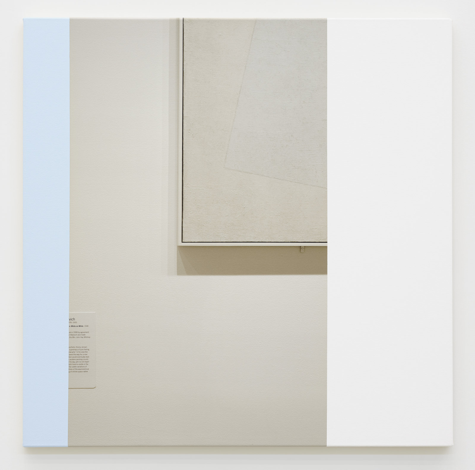 Ian Wallace, Abstract Painting (MOMA NYC) II, 2009, photolaminate with acrylic on canvas, 36 x 36 in. (91 x 91 cm) by Ian Wallace