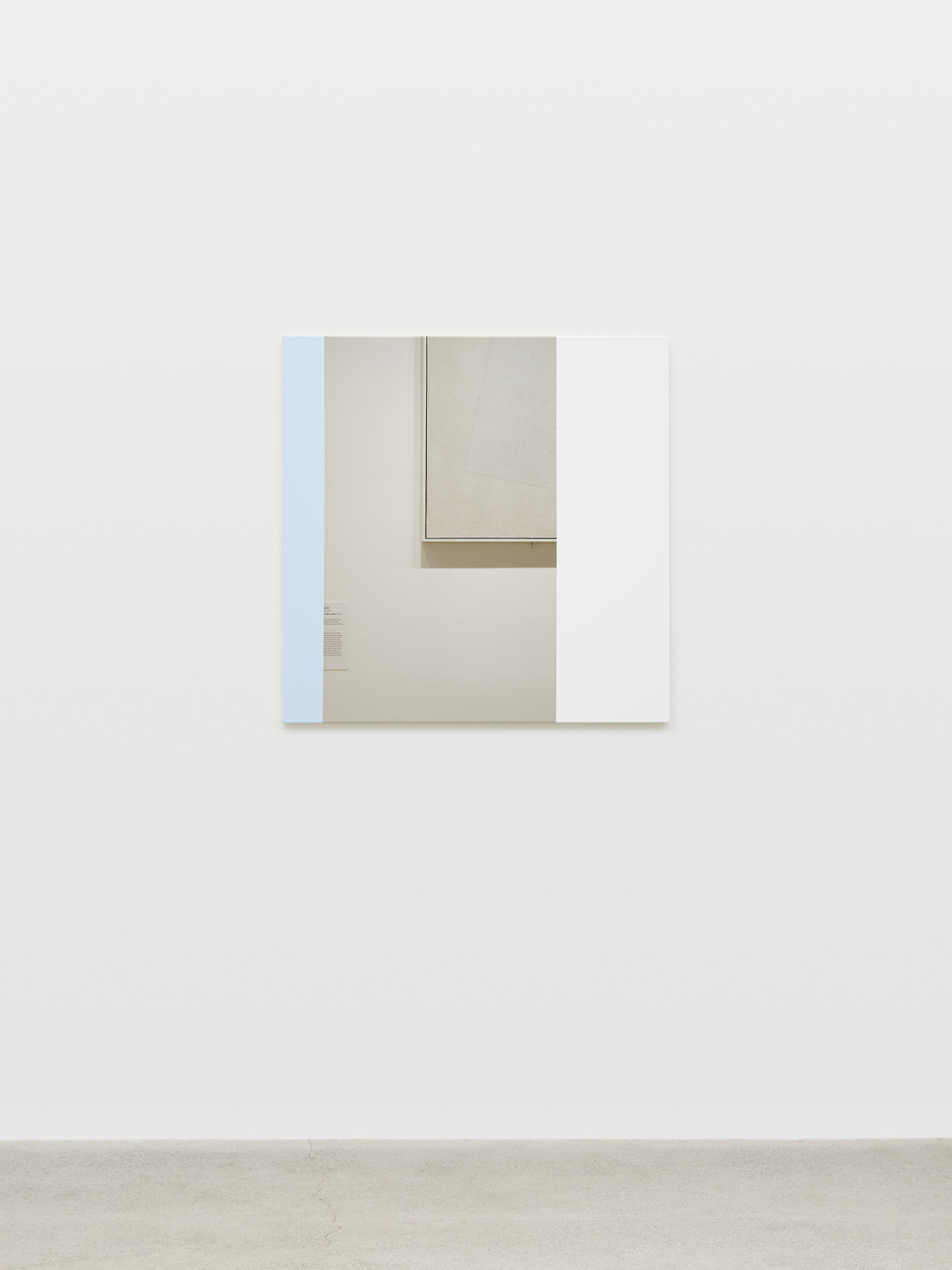Ian Wallace, Abstract Painting (MOMA NYC) II, 2009, photolaminate with acrylic on canvas, 36 x 36 in. (91 x 91 cm)