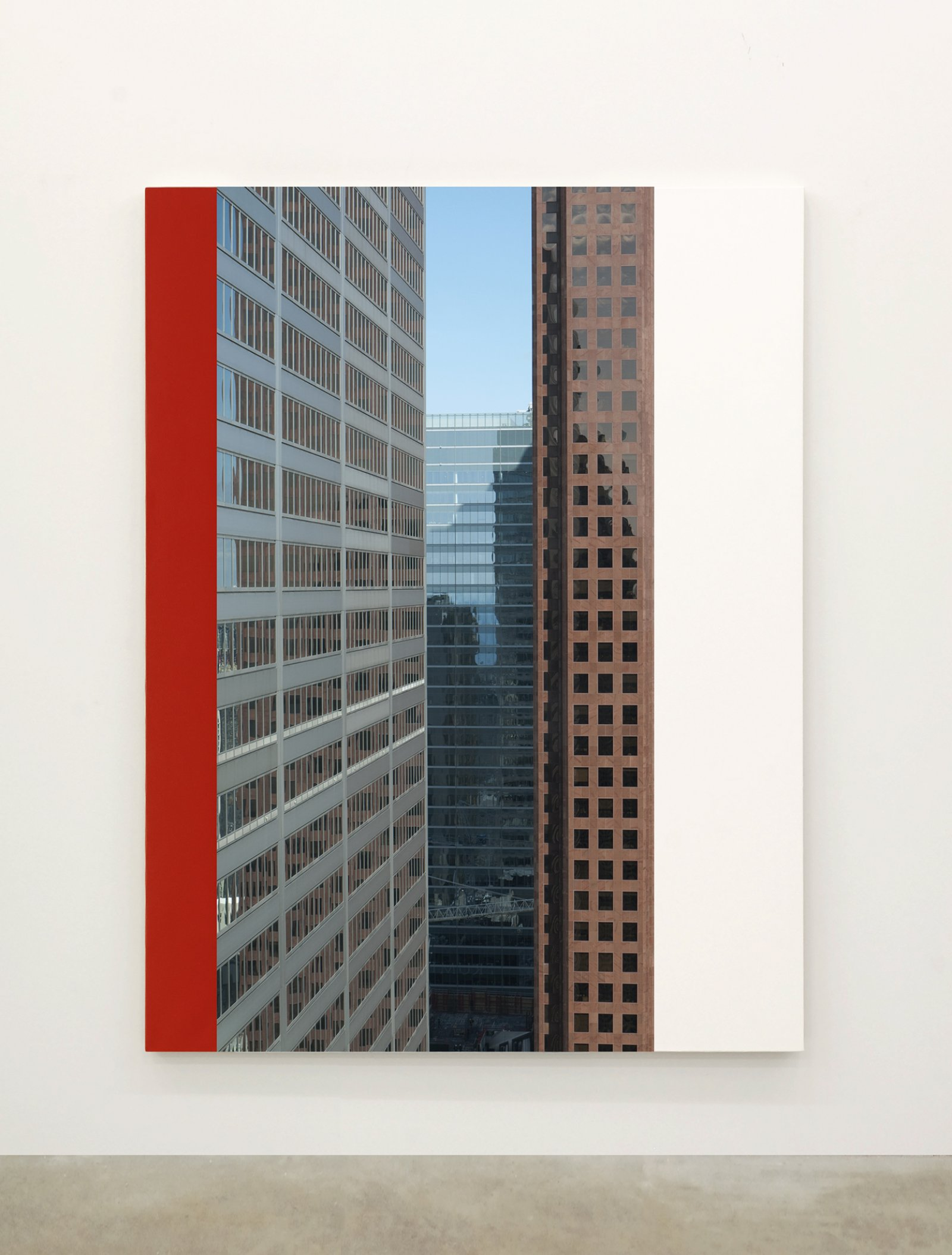 Ian Wallace,Abstract Painting VI(The Financial District), 2010,12 photolaminate with acrylic on canvas panels, each 96 x 72 in. (244 x 183 cm)