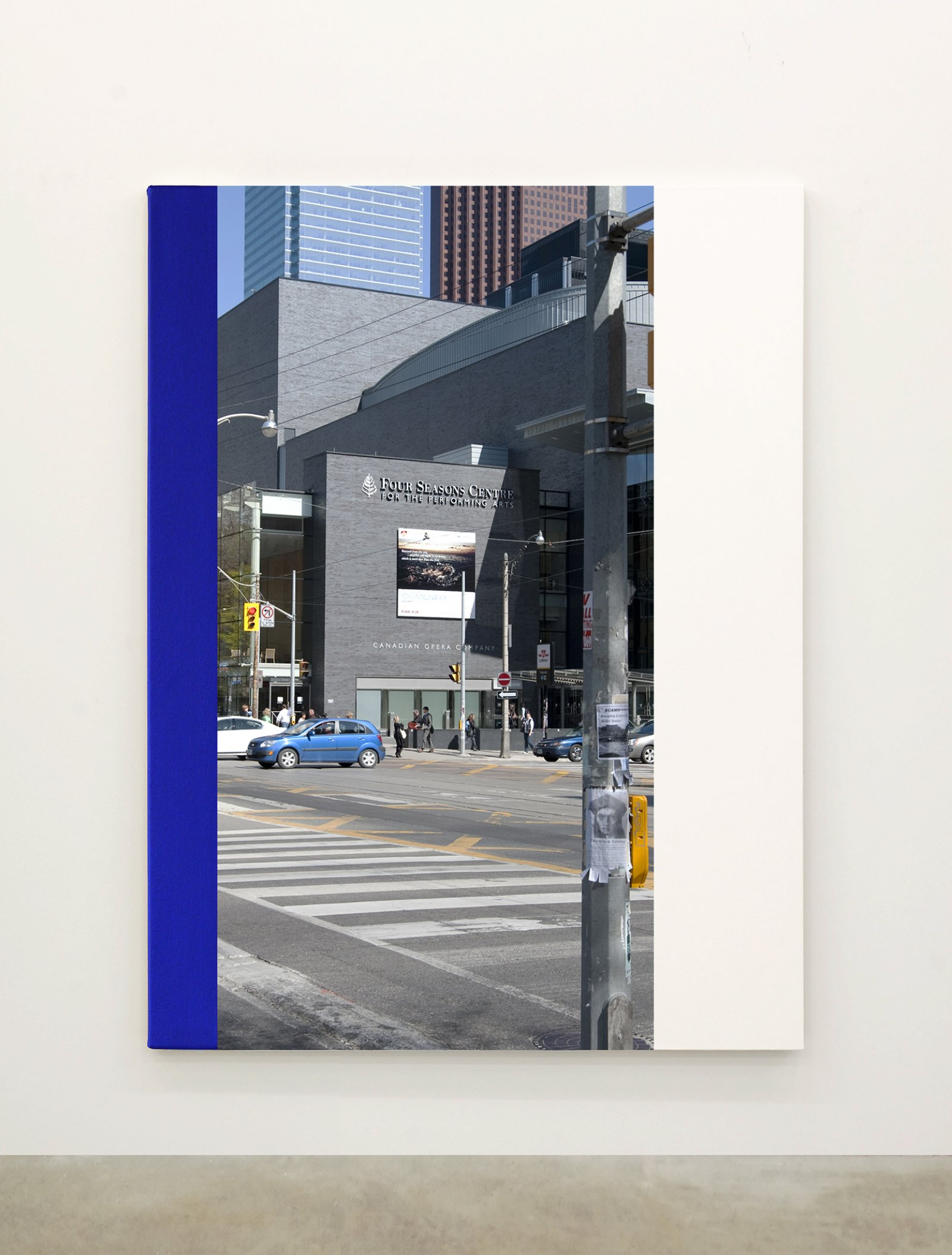 Ian Wallace,Abstract Painting VII(The Financial District), 2010,12 photolaminate with acrylic on canvas panels, each 96 x 72 in. (244 x 183 cm)
