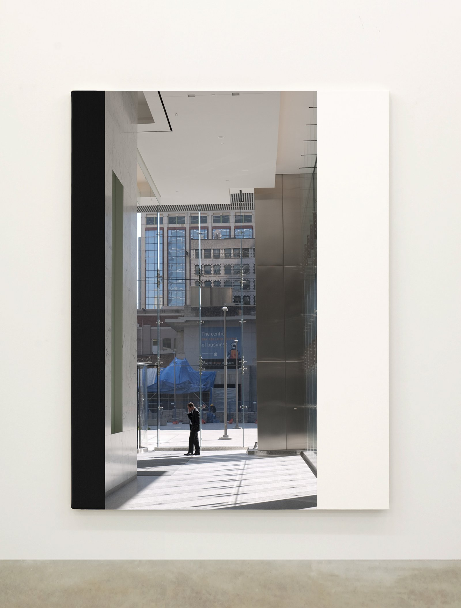 Ian Wallace,Abstract Painting VIII(The Financial District), 2010,12 photolaminate with acrylic on canvas panels, each 96 x 72 in. (244 x 183 cm)