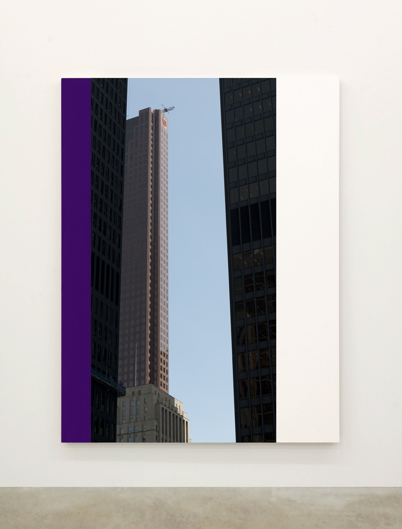 Ian Wallace,Abstract Painting X(The Financial District), 2010,12 photolaminate with acrylic on canvas panels, each 96 x 72 in. (244 x 183 cm)