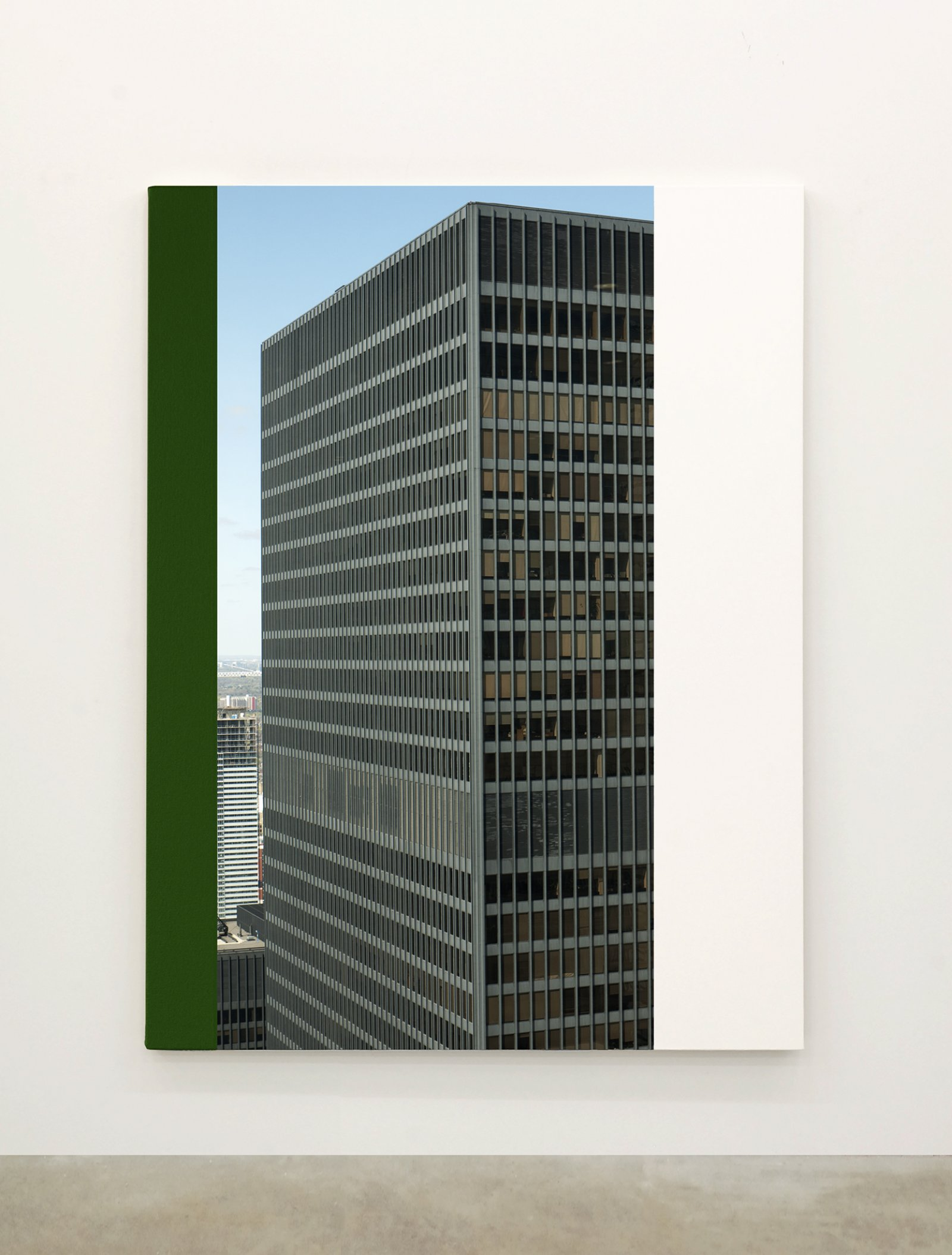 Ian Wallace,Abstract Painting XII(The Financial District), 2010,12 photolaminate with acrylic on canvas panels, each 96 x 72 in. (244 x 183 cm)