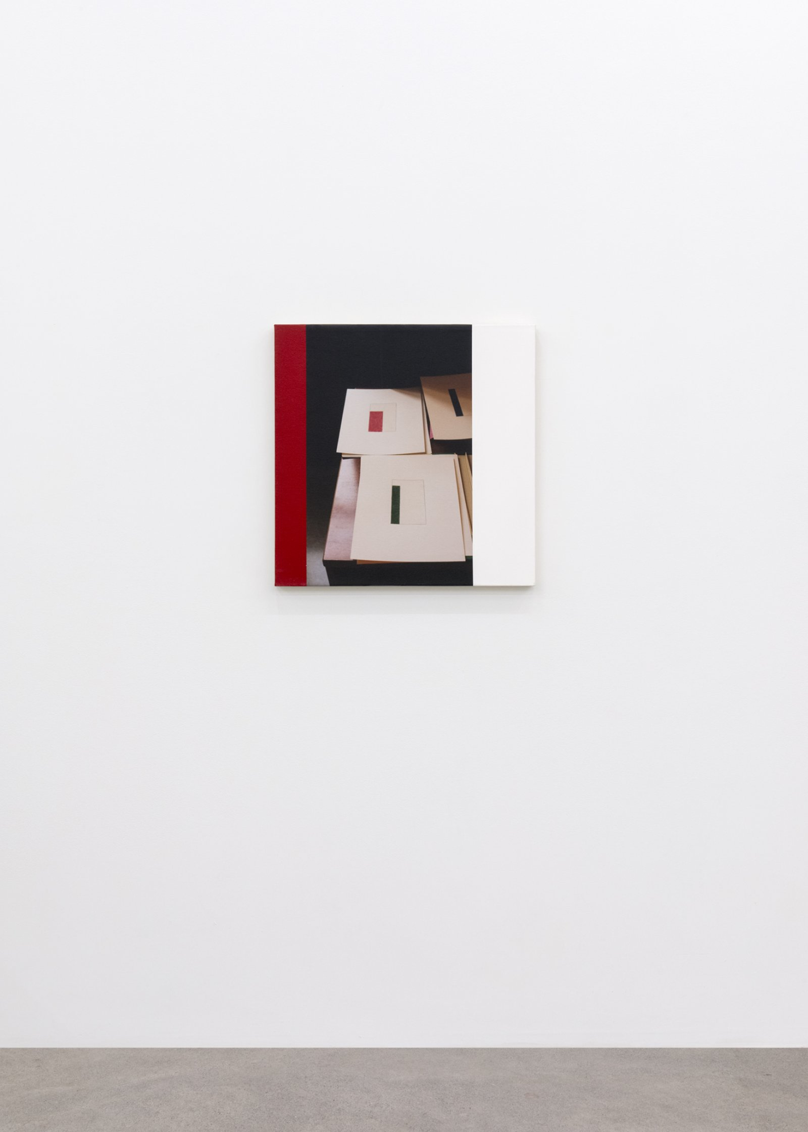 Ian Wallace, Arrangement With Abstract Drawings XI, 2002, photolaminate and acrylic on canvas, 24 x 24 in. (61 x 61 cm) by Ian Wallace