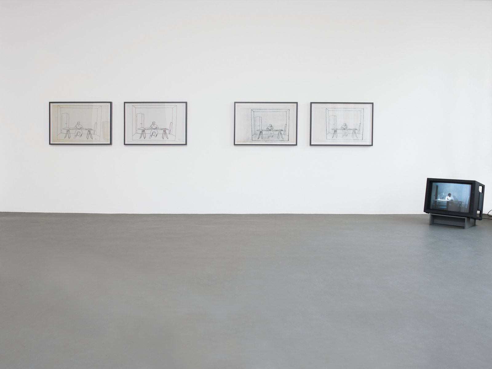 ​​​​​Ian Wallace, ​At Work 1983, 1983, installation, dimensions variable. Installation view, ​A Literature of Images​, Witte de With, Rotterdam, 2008​​​​​​​​ by Ian Wallace