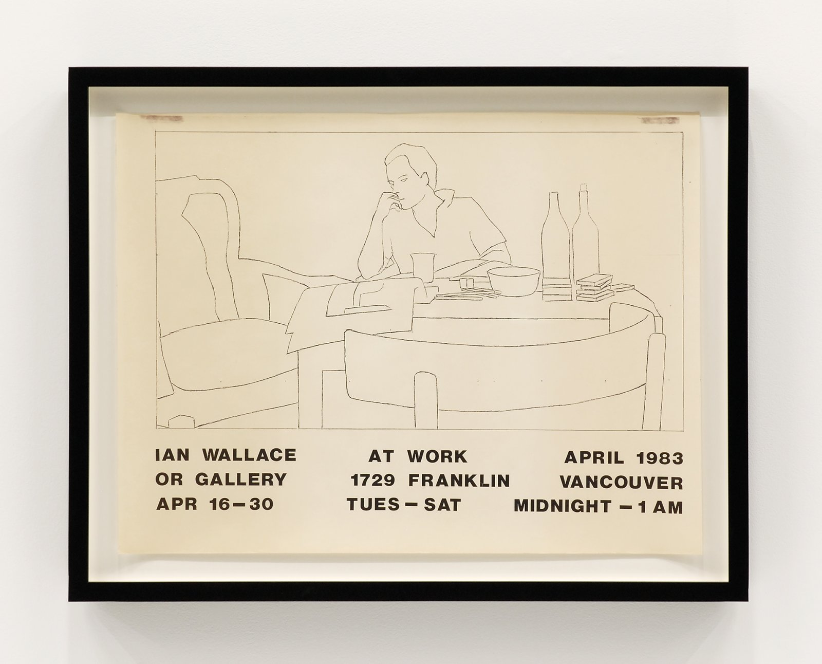 Ian Wallace, At Work 1983, 1983, exhibition poster, ink on paper, 18 x 24 in. (46 x 60 cm) by Ian Wallace