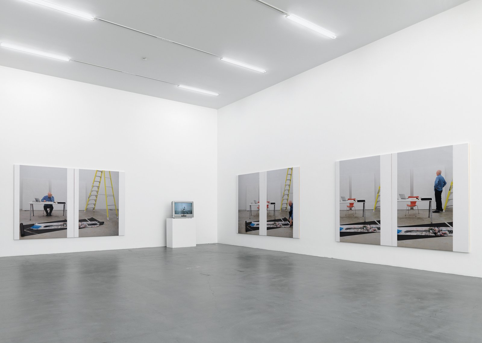 Ian Wallace, At Work 2008, 2008, installation, dimensions variable. Installation view, A Literature of Images, Kunsthalle Zürich, 2008 by Ian Wallace