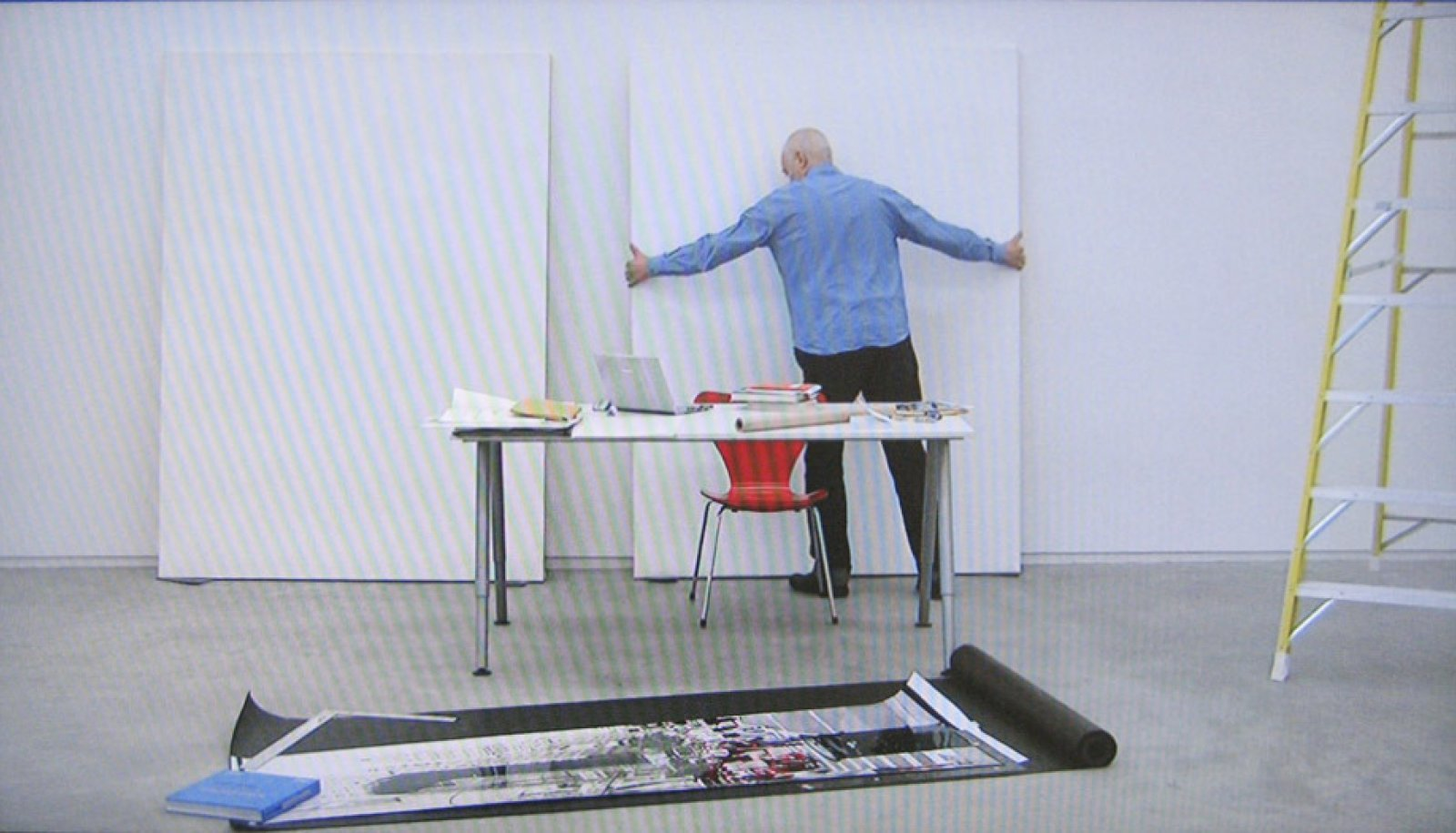 Ian Wallace,At Work 2008 (still), 2008, single channel HD video, 34 minutes, 13 seconds