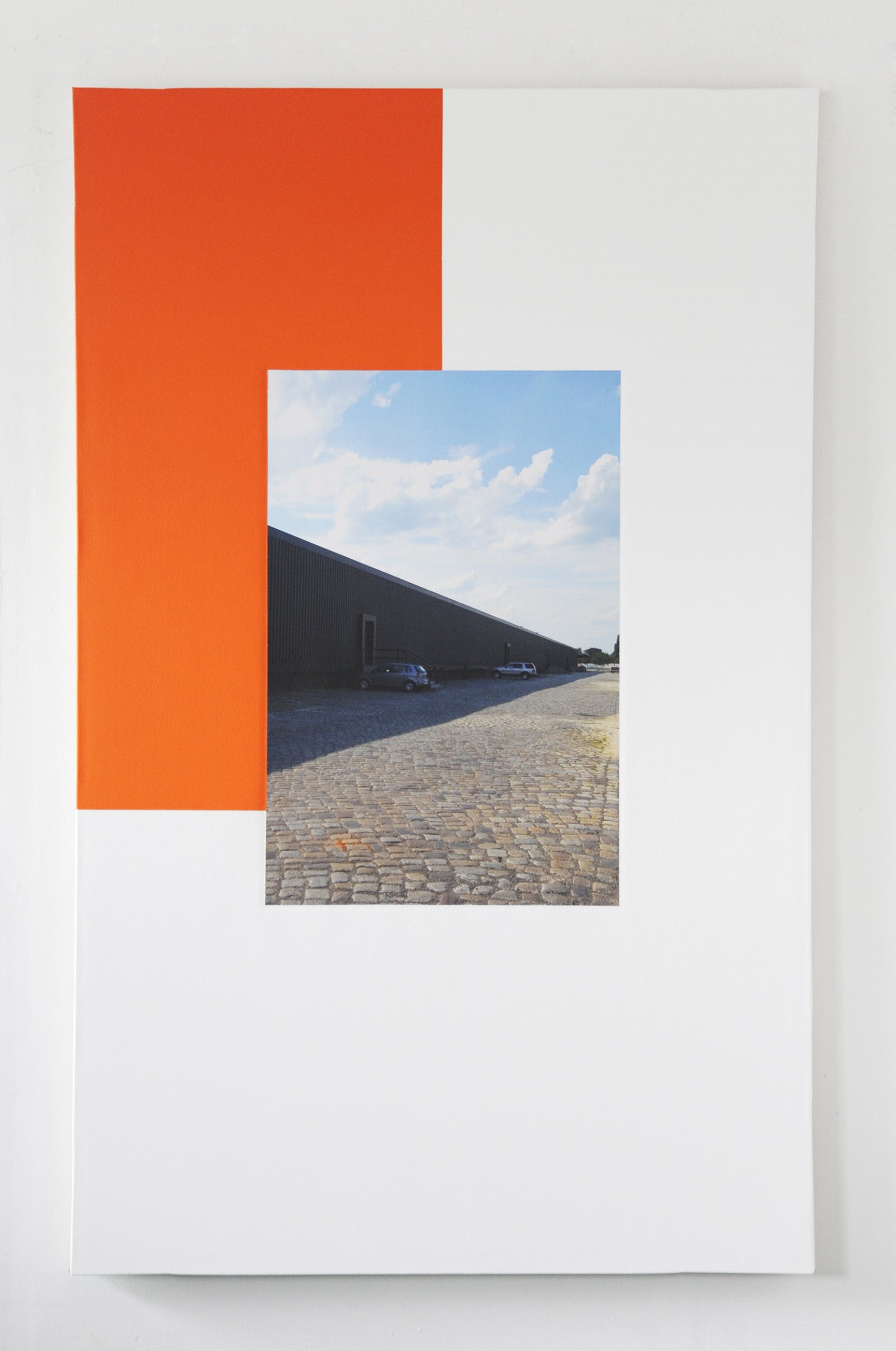Ian Wallace,Berlin Perspective, 2009, photolaminate and acrylic on canvas,78 x 48 in. (198 x 122 cm)