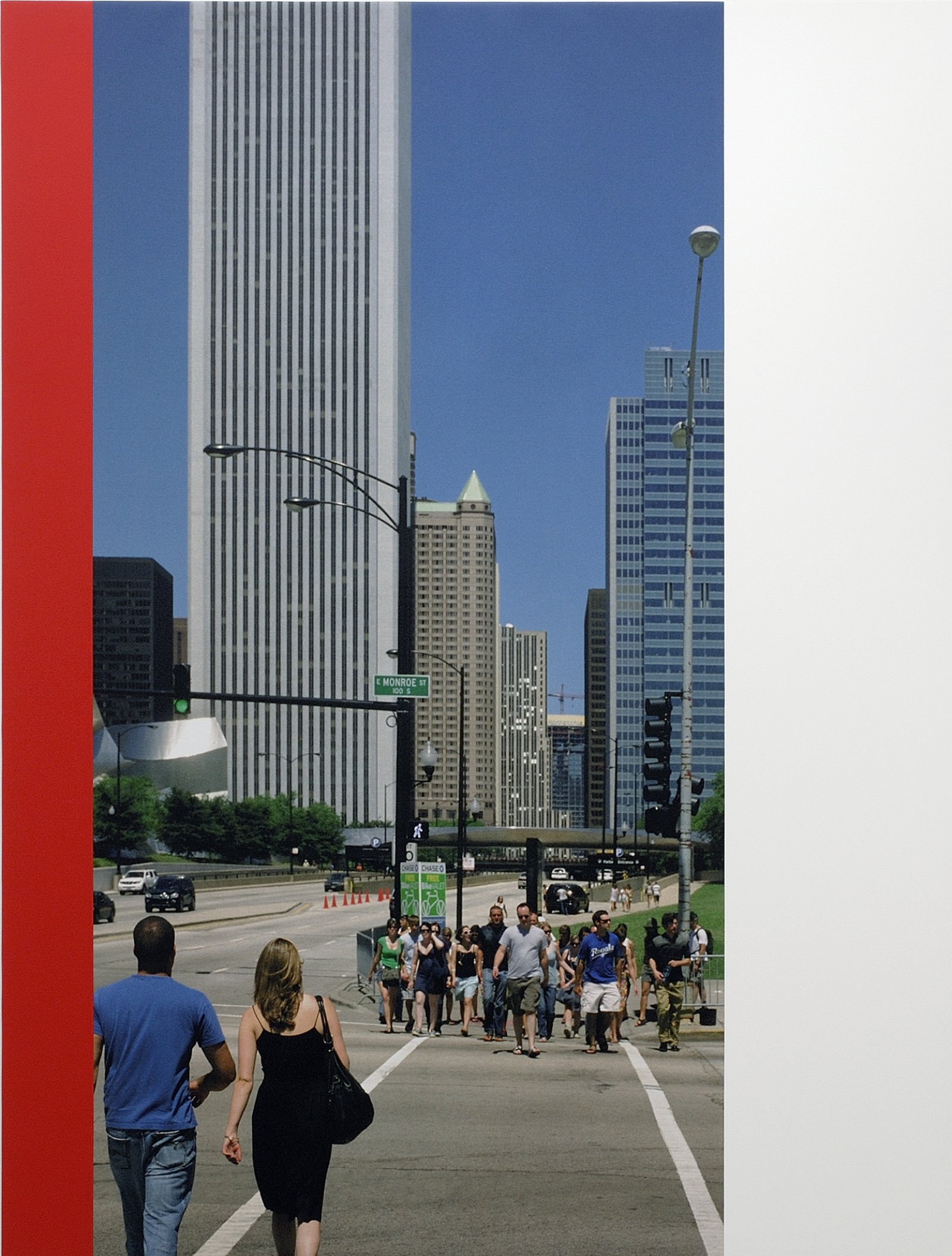 Ian Wallace, Chicago Crosswalk, 2007, photolaminate and acrylic on canvas, 96 x 72 in. (244 x 183 cm) by Ian Wallace