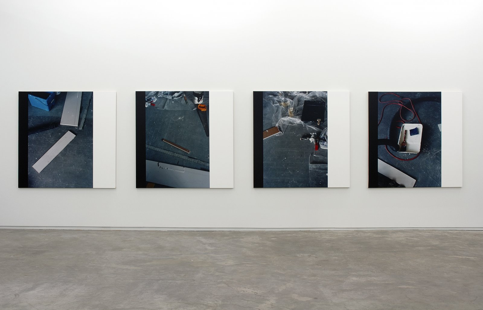 Ian Wallace,Constellations (With Black) I, II, III, IV, 2006, photolaminate with acrylic on canvas,60 x 60 in. (153 x 153 cm)