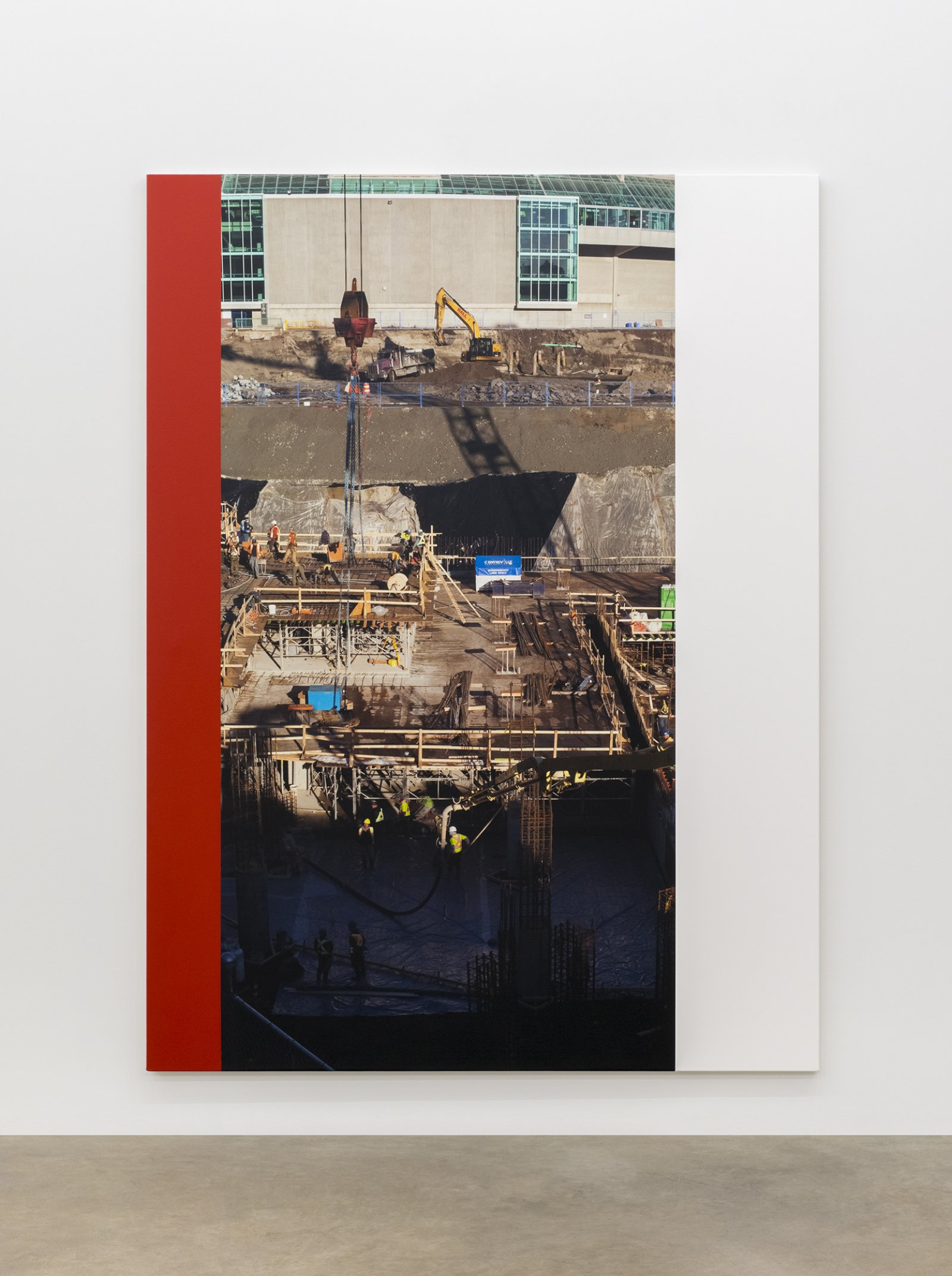 Ian Wallace, Construction Site (Excavation), 2015, photolaminate and acrylic on canvas, 96 x 72 in. (244 x 183 cm) by Ian Wallace