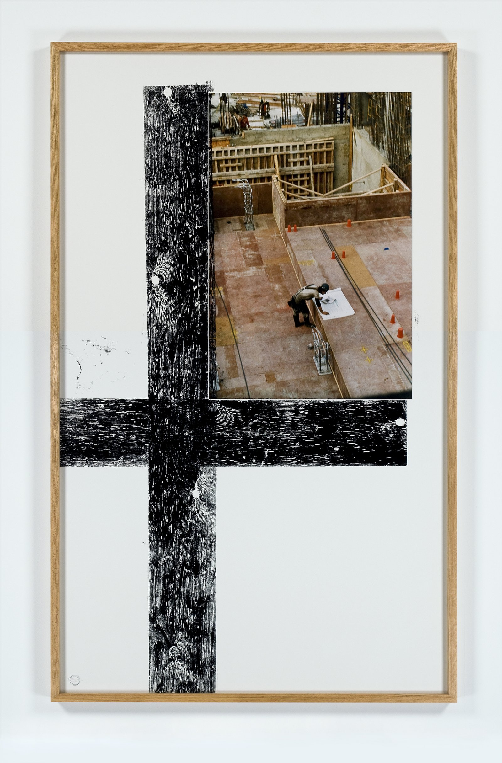 ​Ian Wallace, Construction Site I & II, 1992, 2 photo and ink monoprints on paper, each 77 x 47 in. (196 x 119 cm) ​ by Ian Wallace