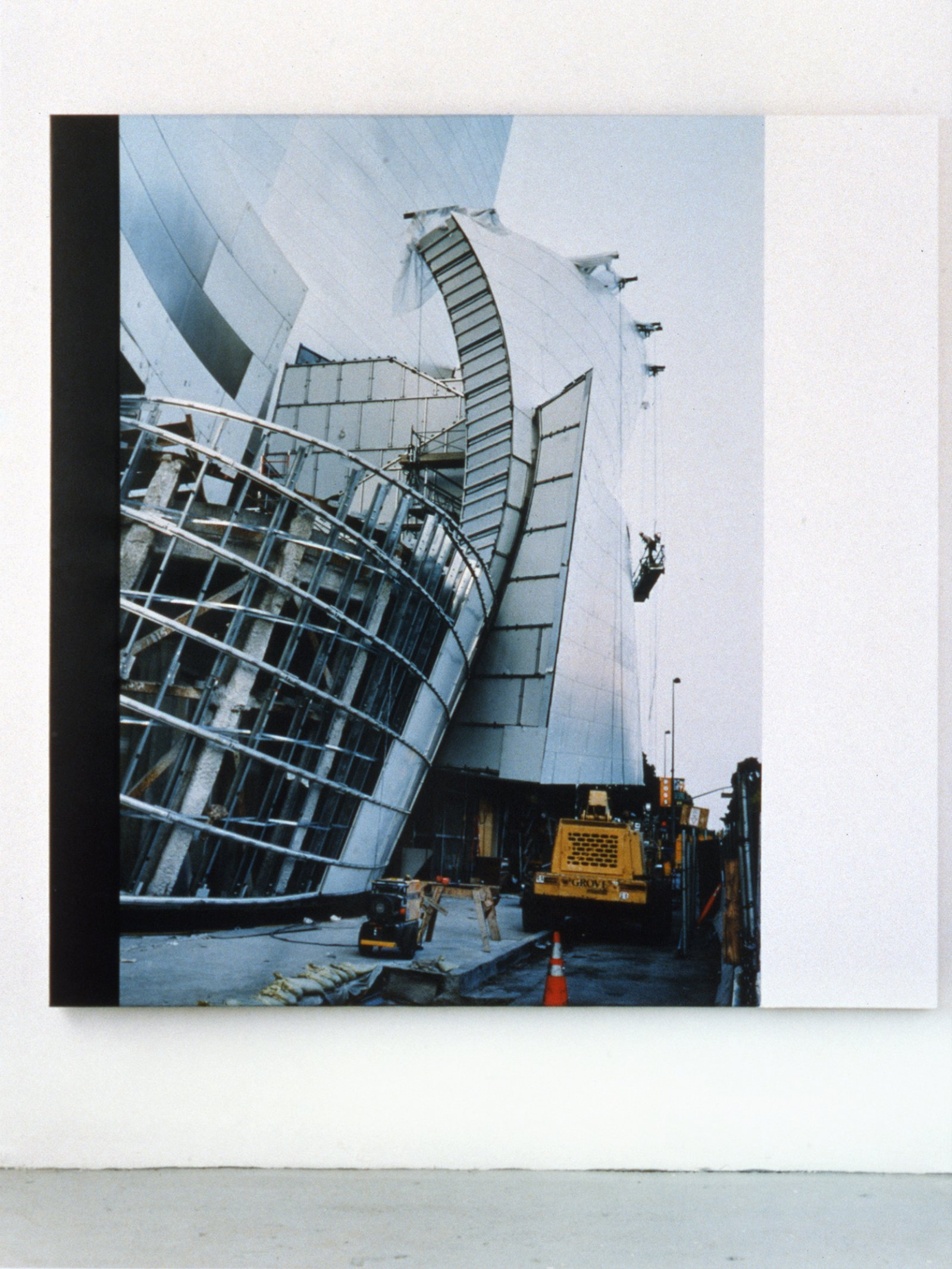 Ian Wallace,Construction Site LA III, 2003, photolaminate and acrylic on canvas,72 x 72 in. (183 x 183cm)