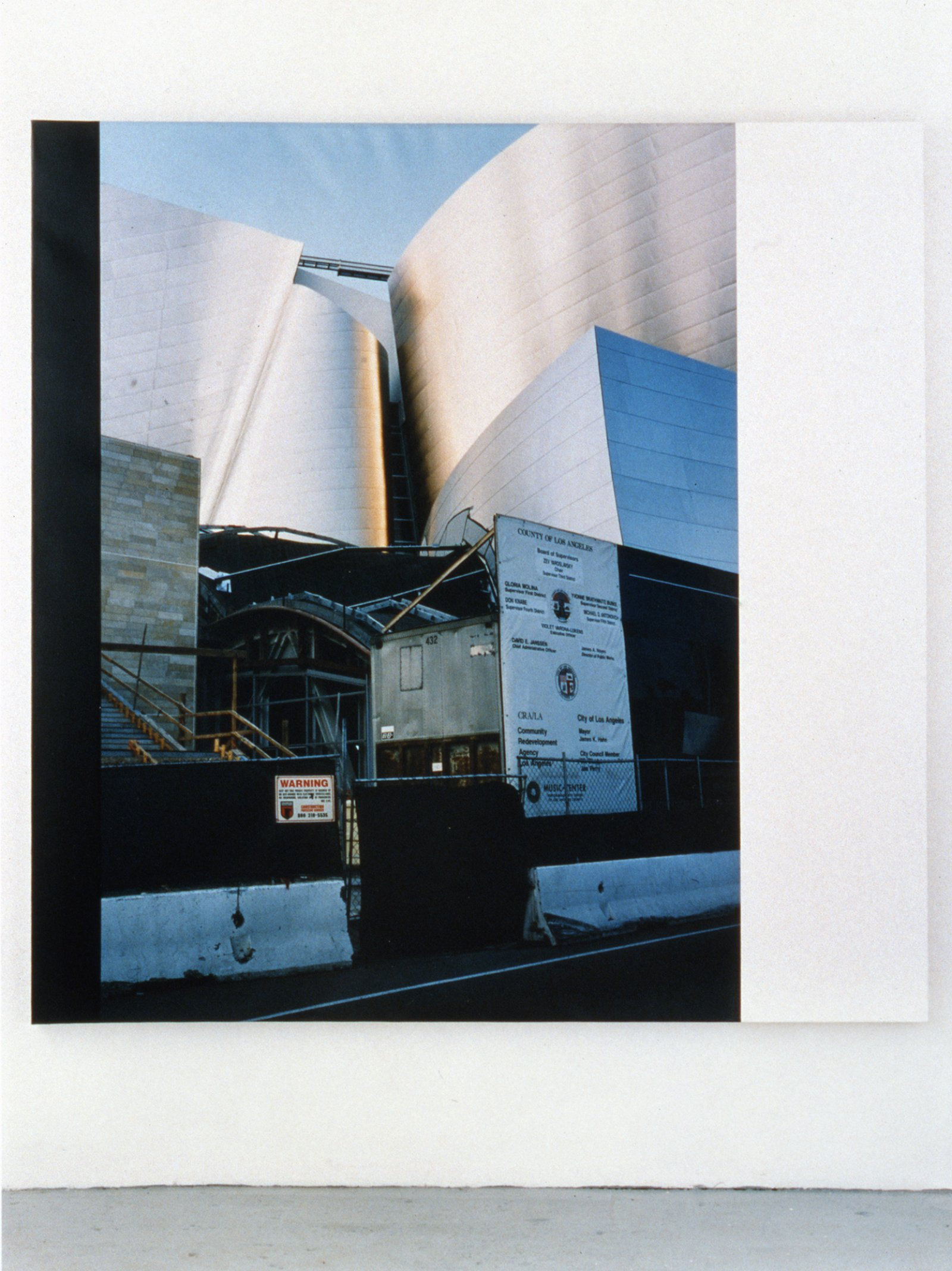 Ian Wallace,Construction Site LA II, 2003, photolaminate and acrylic on canvas,72 x 72 in. (183 x 183cm)