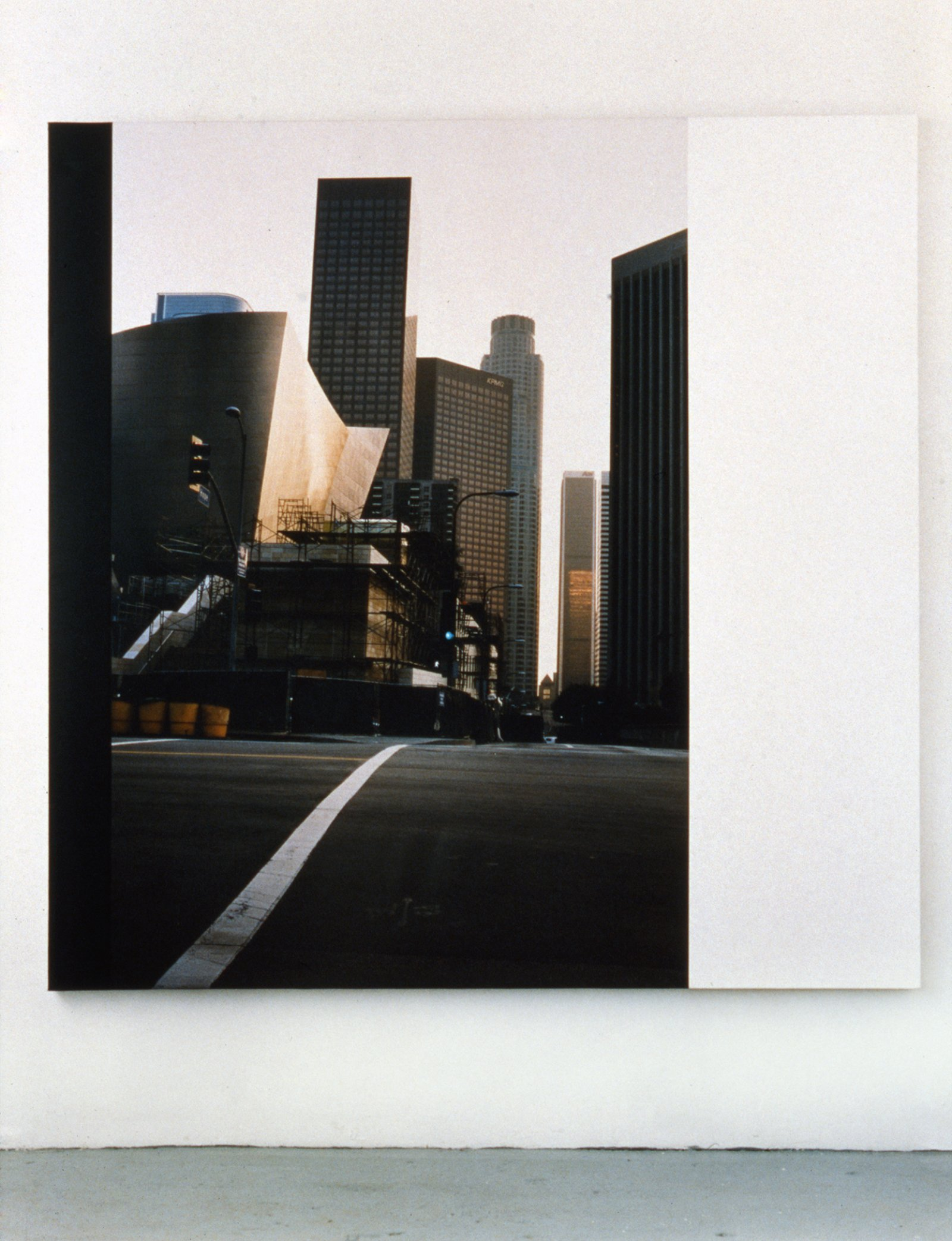 Ian Wallace,Construction Site LA IV, 2003, photolaminate and acrylic on canvas,72 x 72 in. (183 x 183cm)